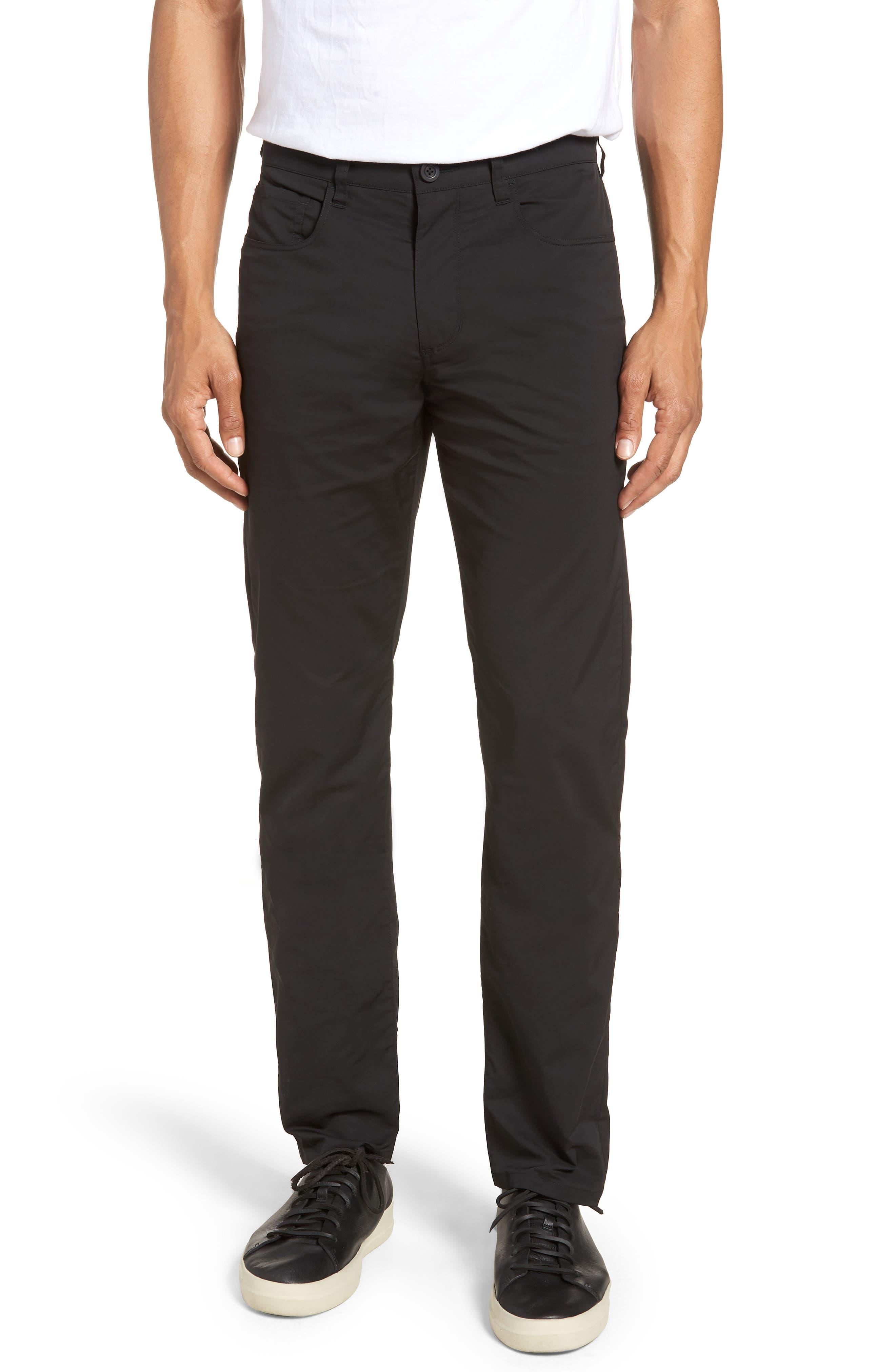 Tech Five-Pocket Pants,                             Main thumbnail 1, color,                             Black