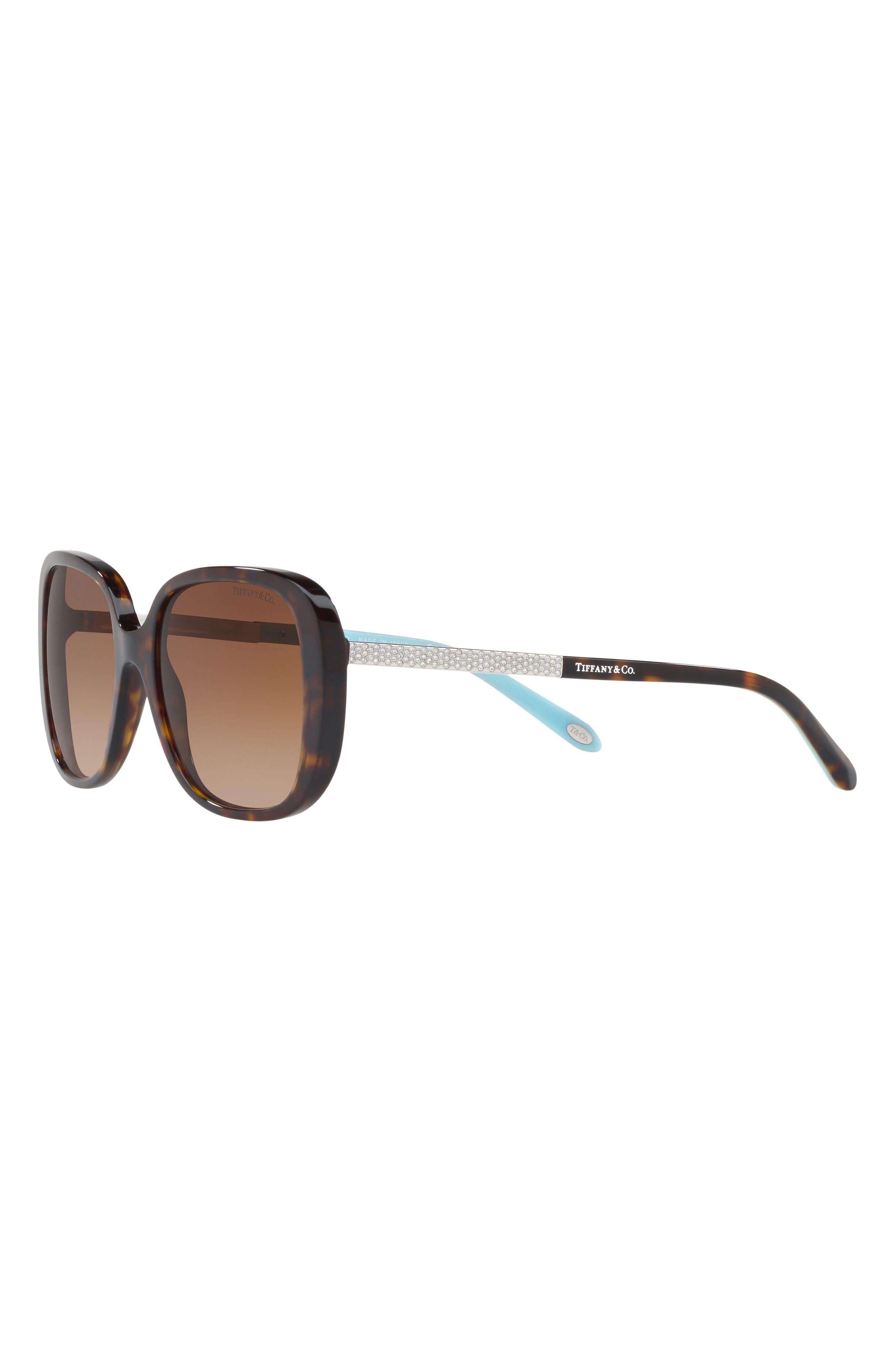 54mm Gradient Sunglasses,                             Alternate thumbnail 2, color,                             Dark Havana