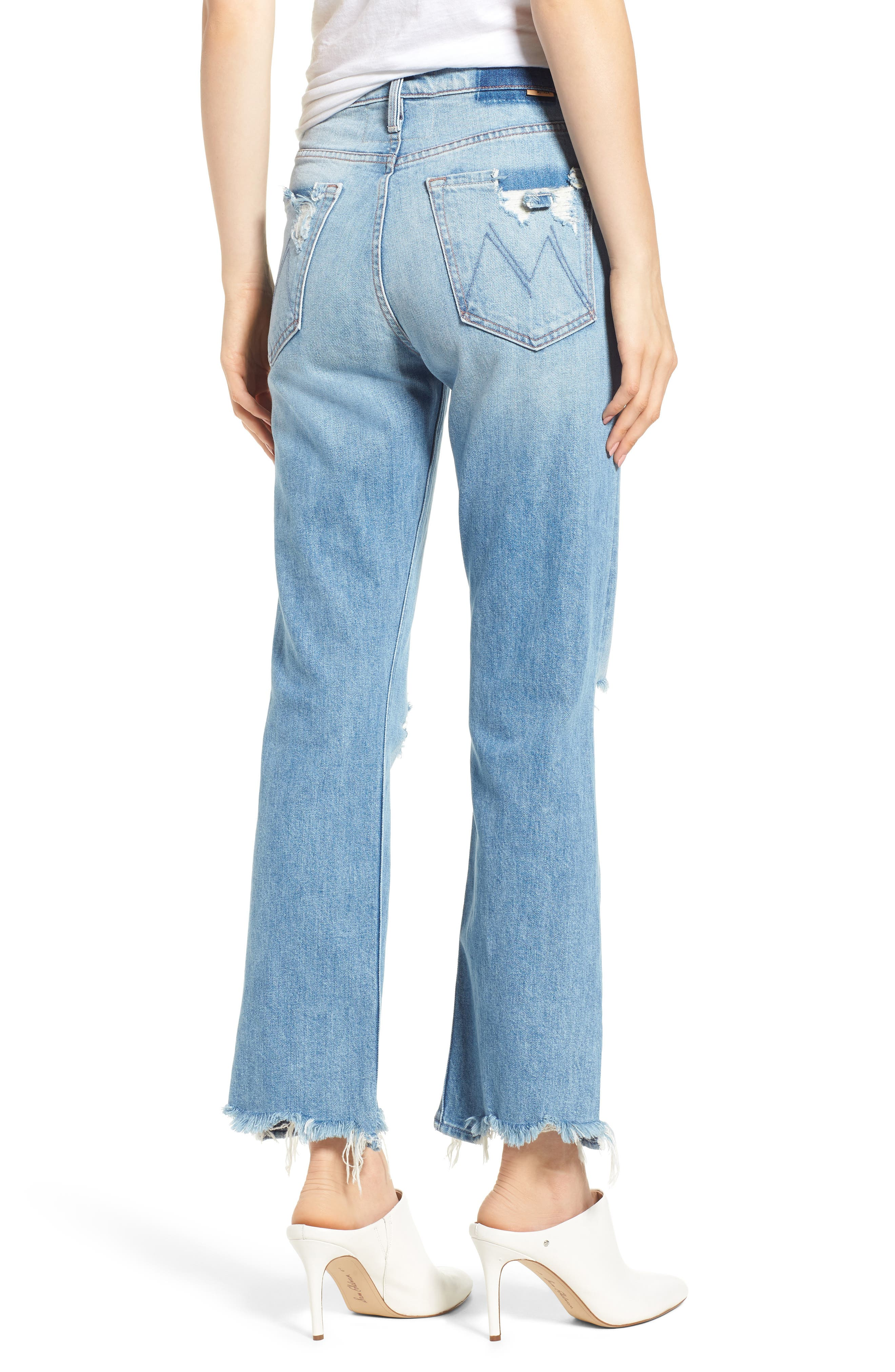 The Tripper Ripped Ankle Flare Jeans,                             Alternate thumbnail 2, color,                             Misbeliever