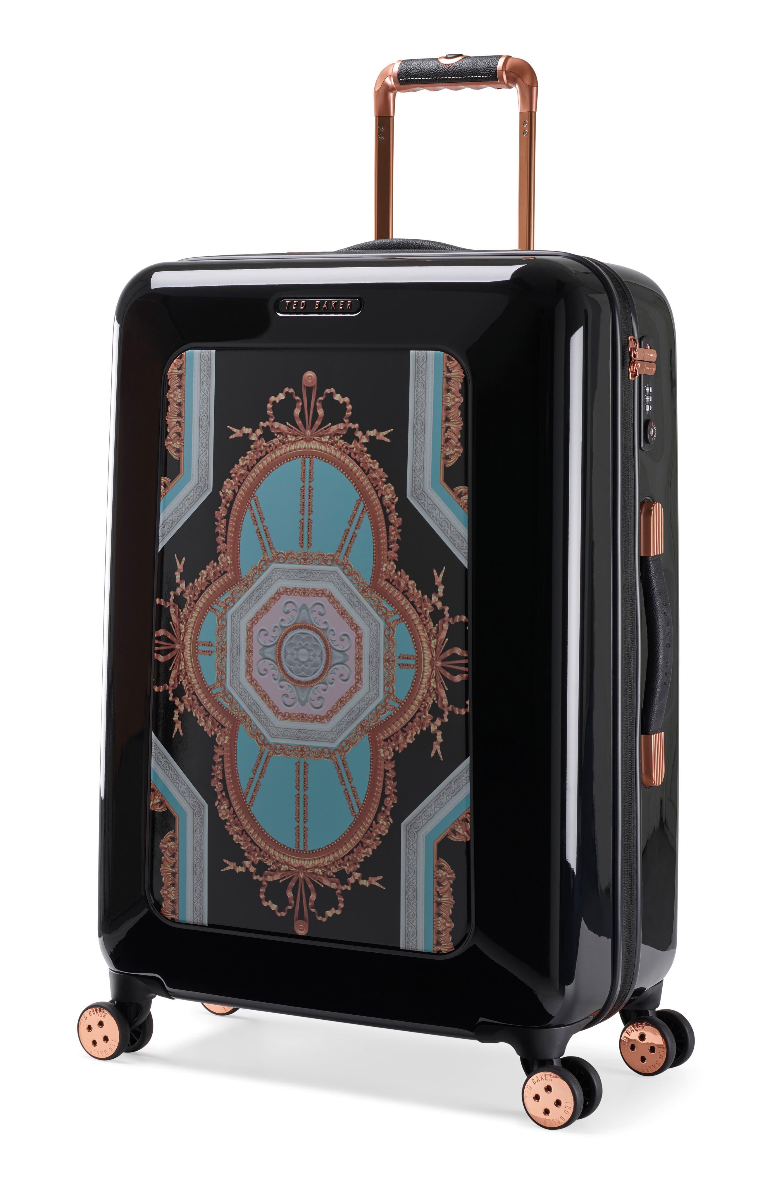 Medium Versailles 27-Inch Hard Shell Spinner Suitcase,                             Alternate thumbnail 3, color,                             Black