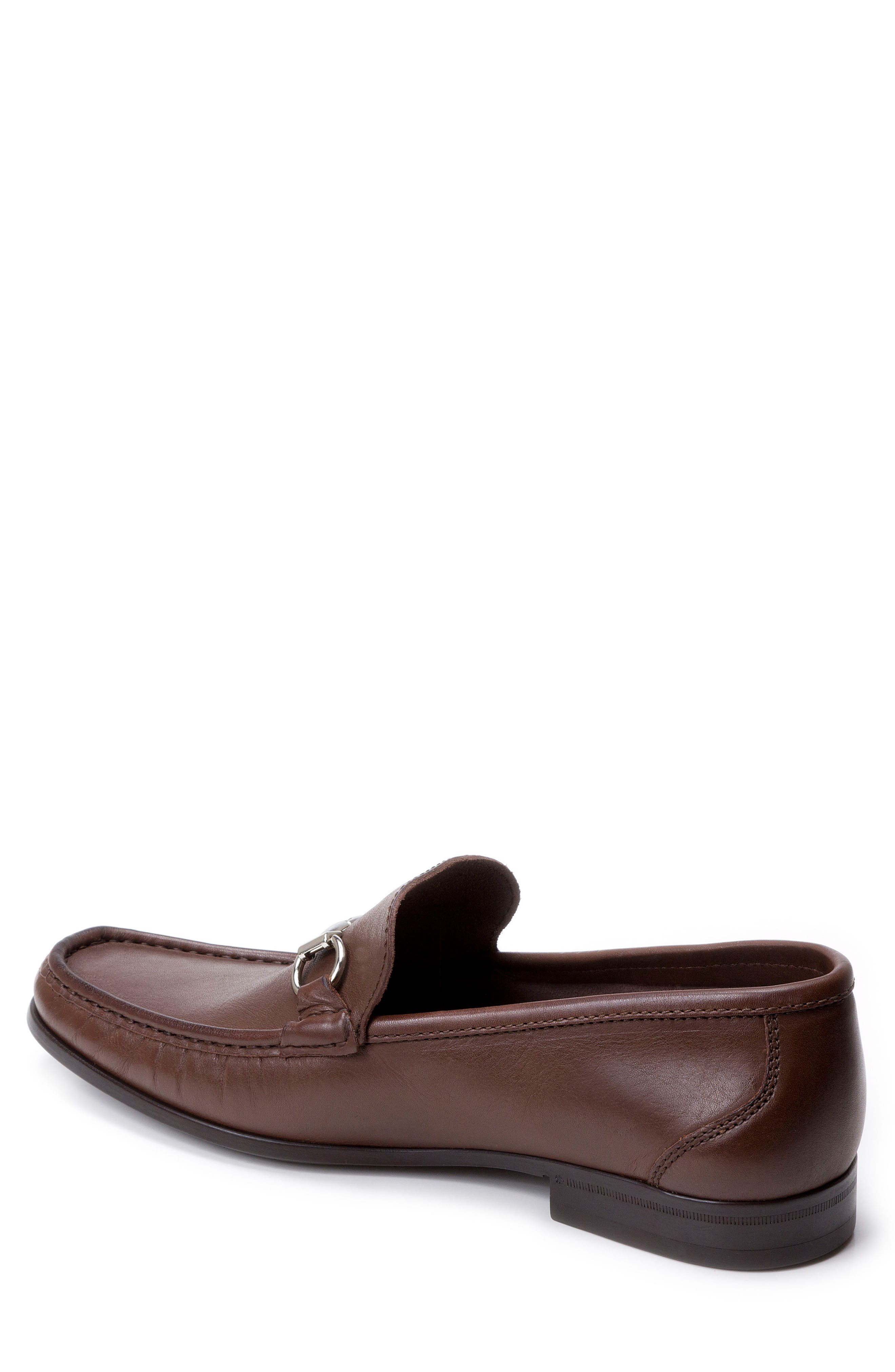 'Malibu' Suede Bit Loafer,                             Alternate thumbnail 2, color,                             Brown Leather