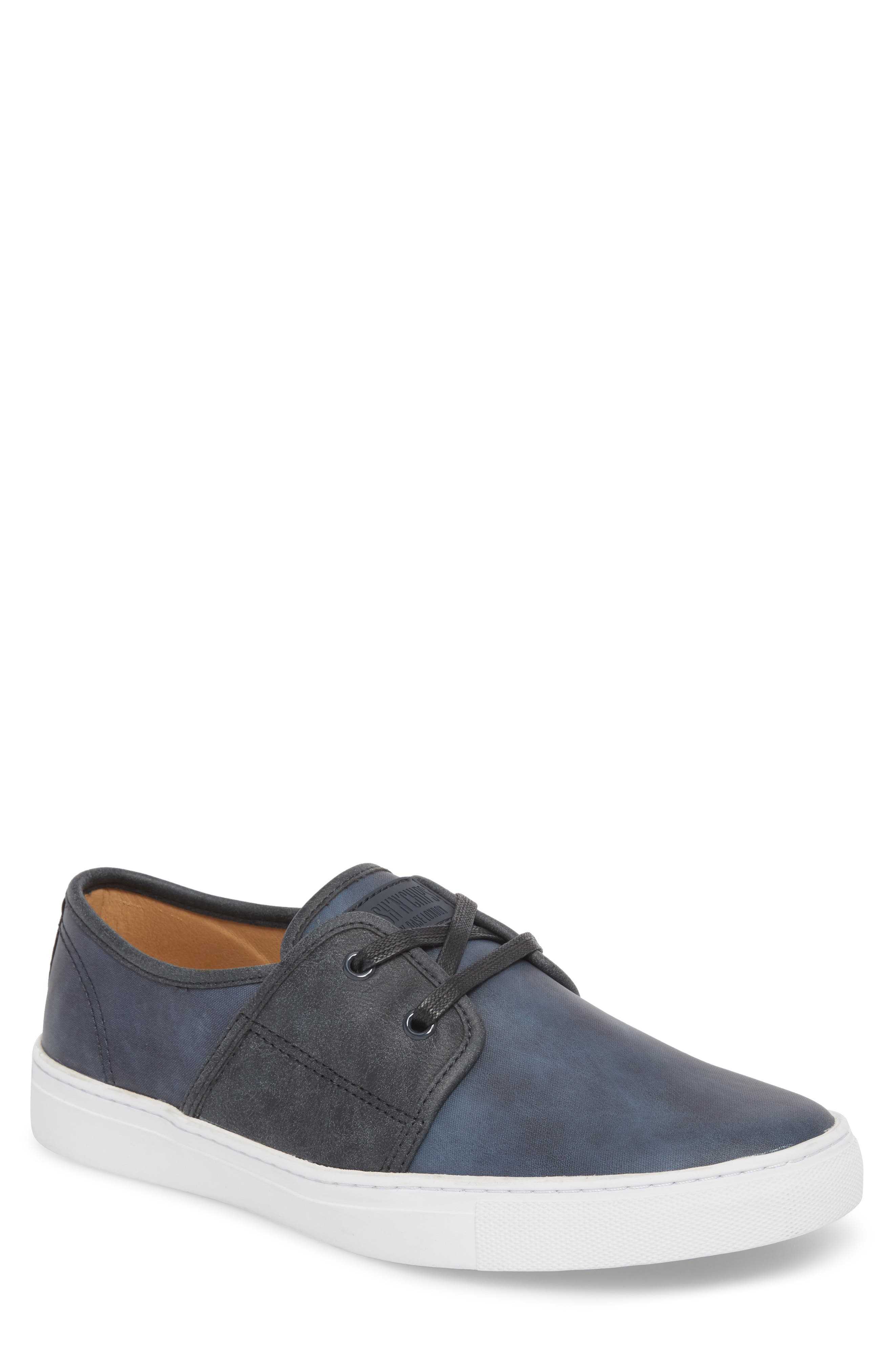 Toronto Low Top Sneaker,                         Main,                         color, Navy Faux Suede