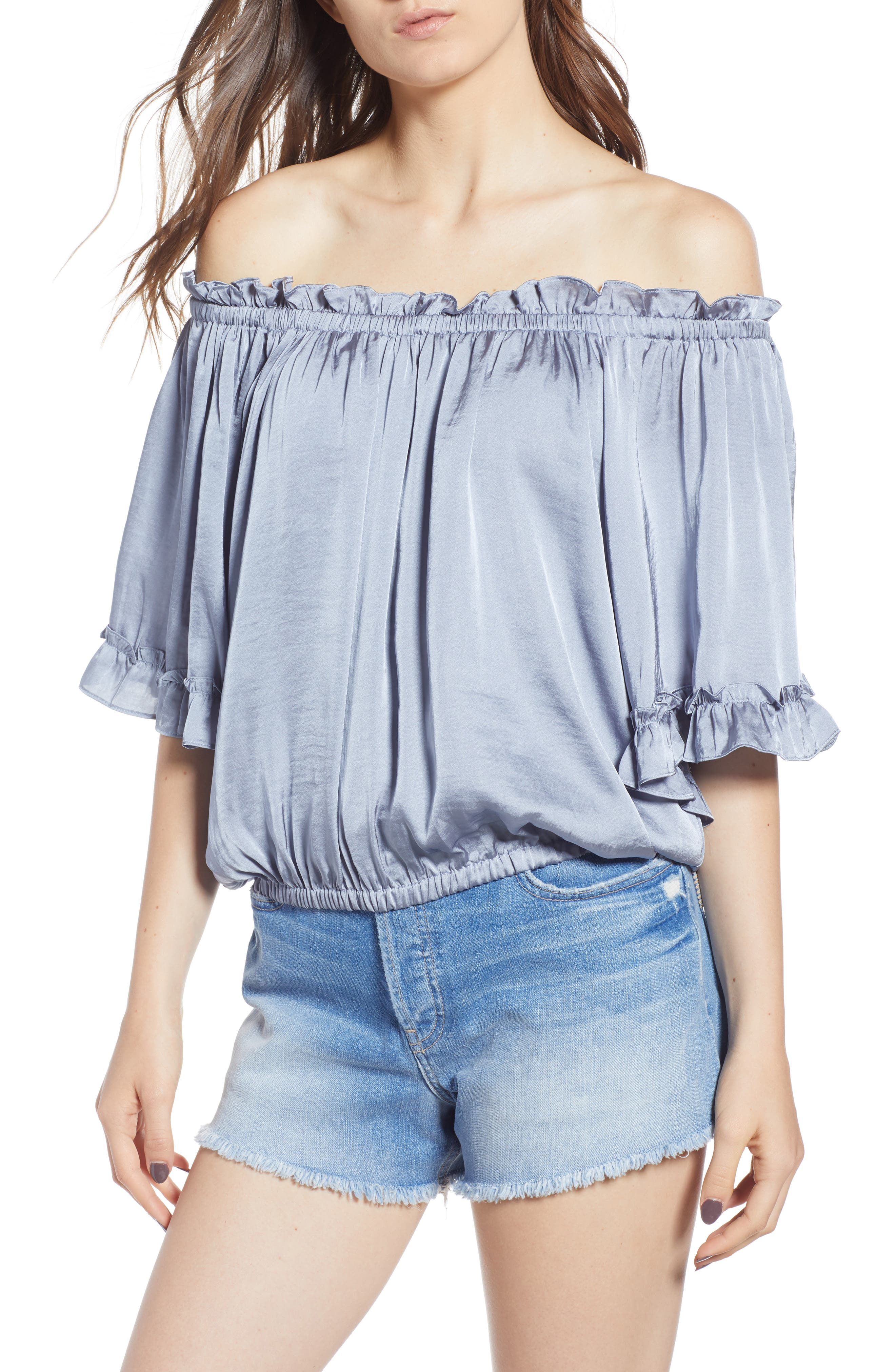 MISA ABBY OFF THE SHOULDER TOP