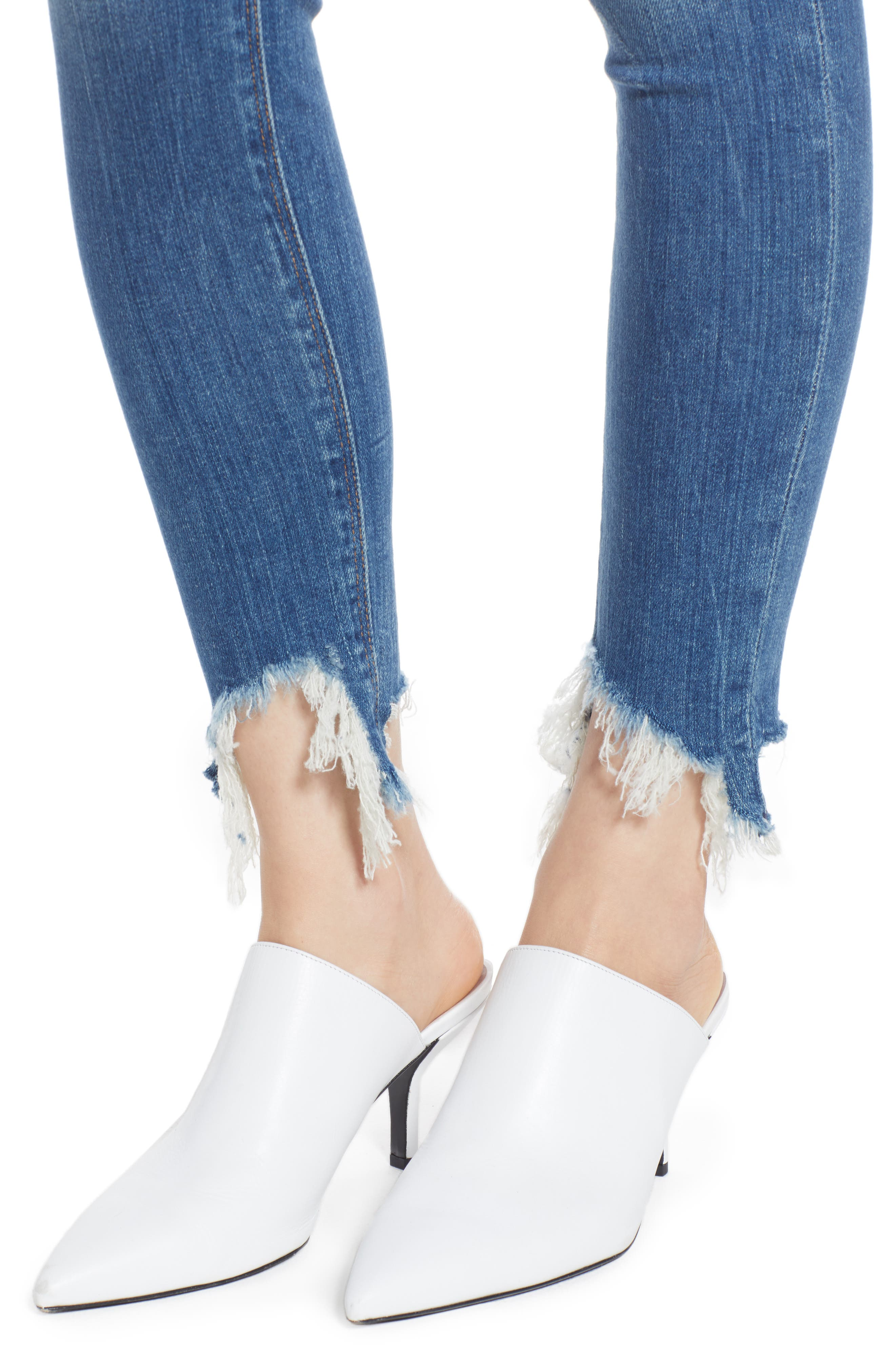 Nico Zip Hem Crop Skinny Jeans,                             Alternate thumbnail 4, color,                             Bite Back