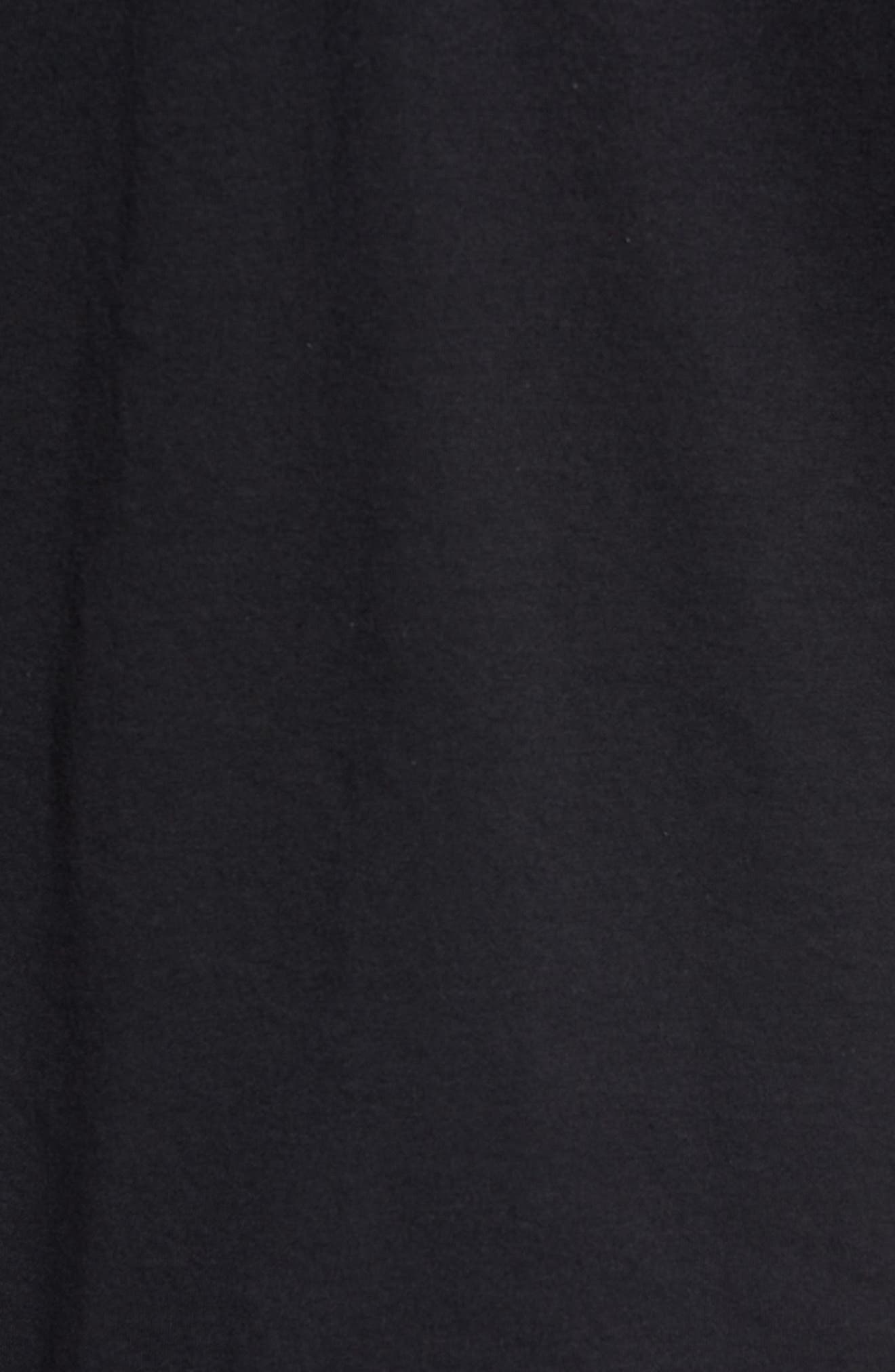 Three Stripe Life Metallic T-Shirt,                             Alternate thumbnail 5, color,                             Black / White