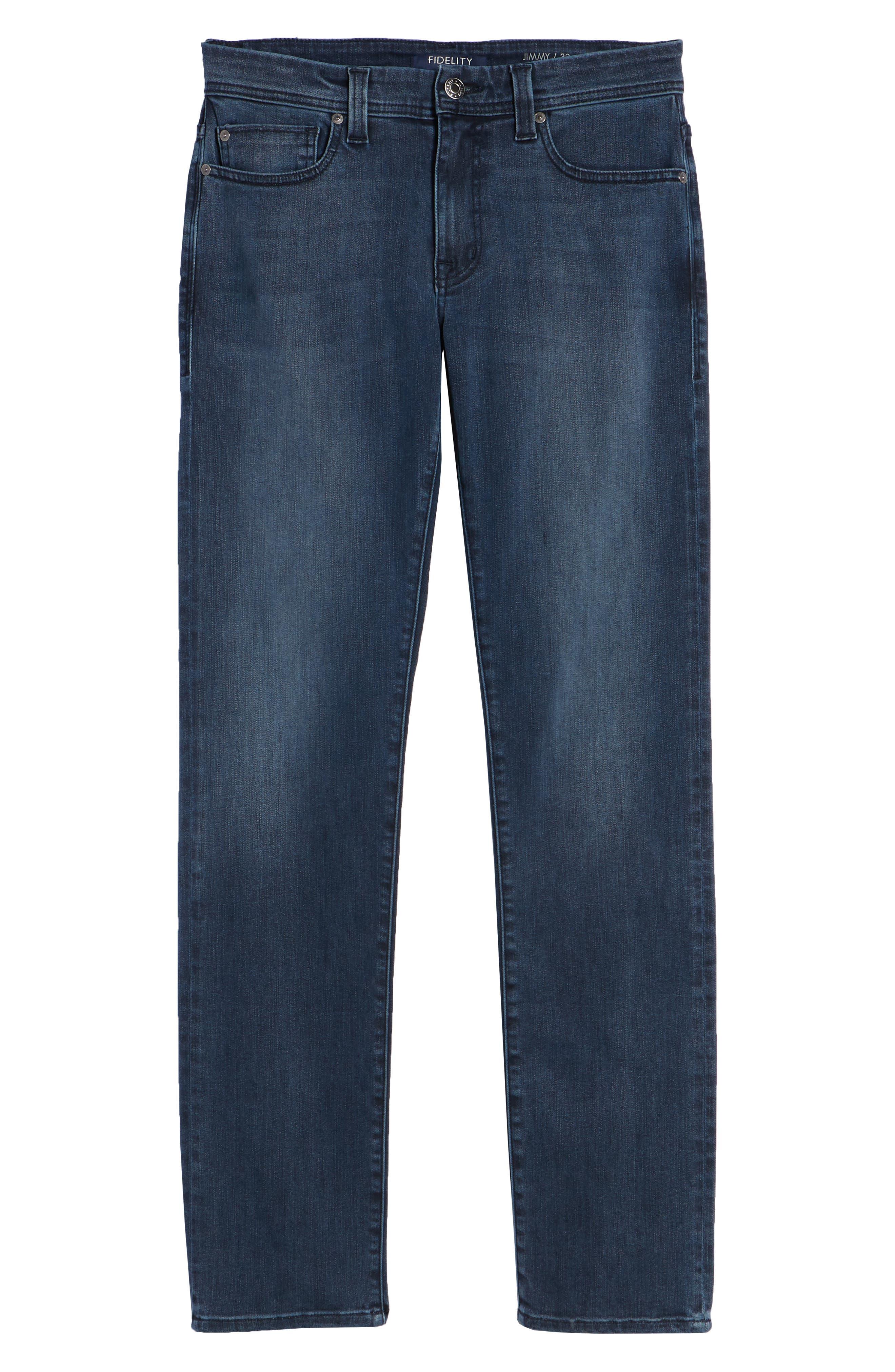 Jimmy Slim Straight Leg Jeans,                             Alternate thumbnail 6, color,                             Lexicon