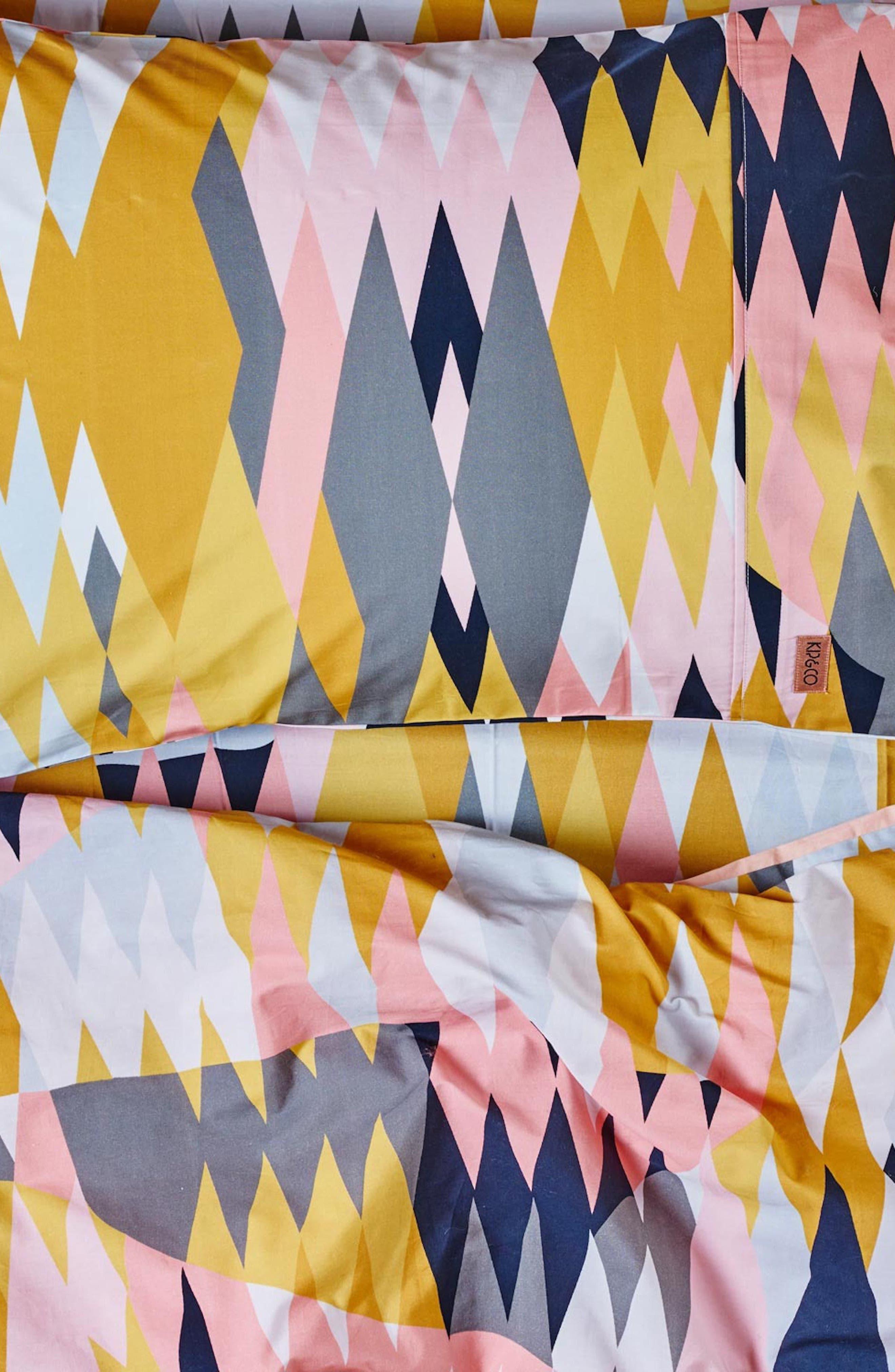 Croc Desert Cotton Duvet Cover,                             Alternate thumbnail 2, color,                             Multi