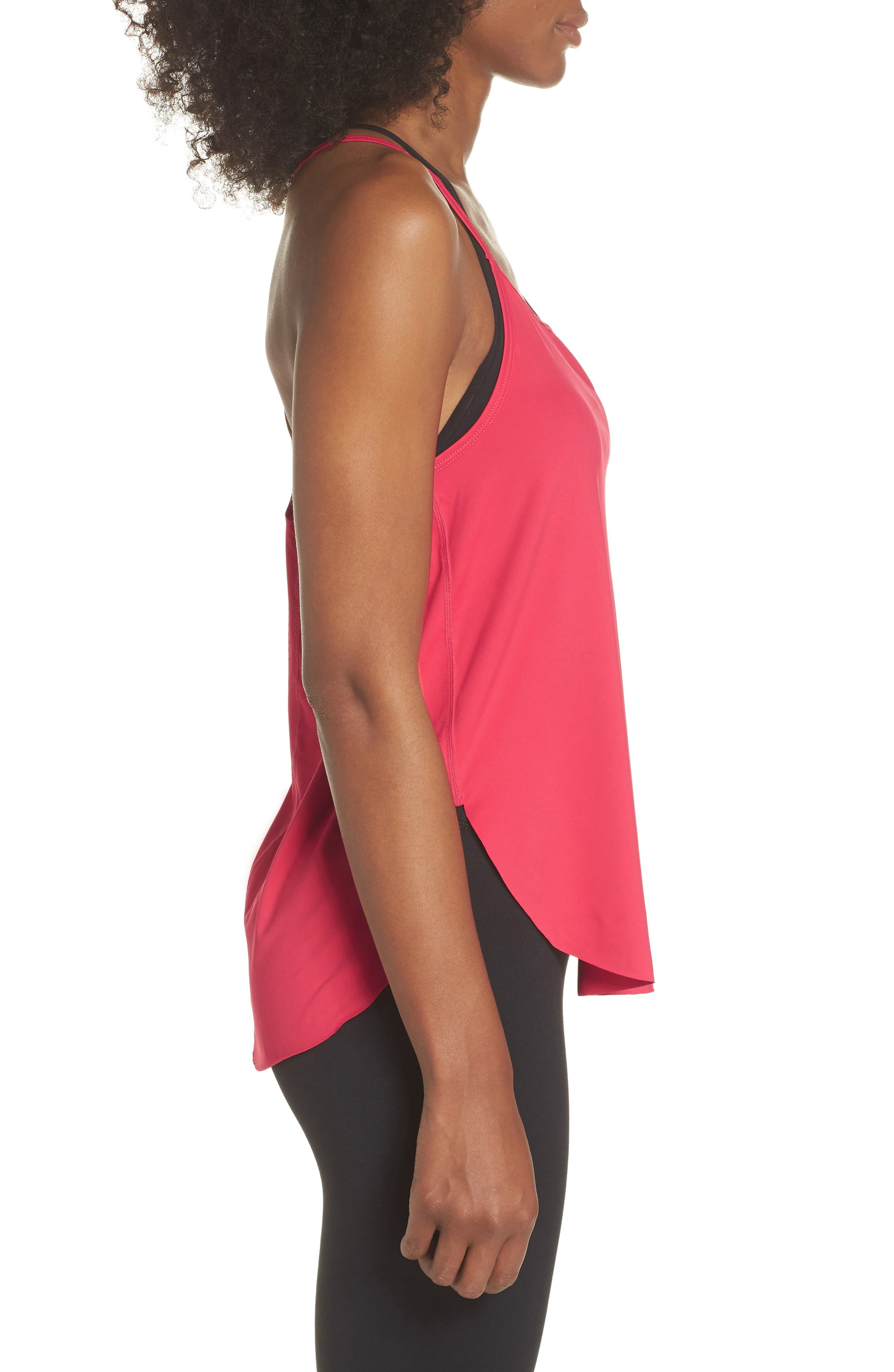 Fera Perforated Tank,                             Alternate thumbnail 3, color,                             Red Desire