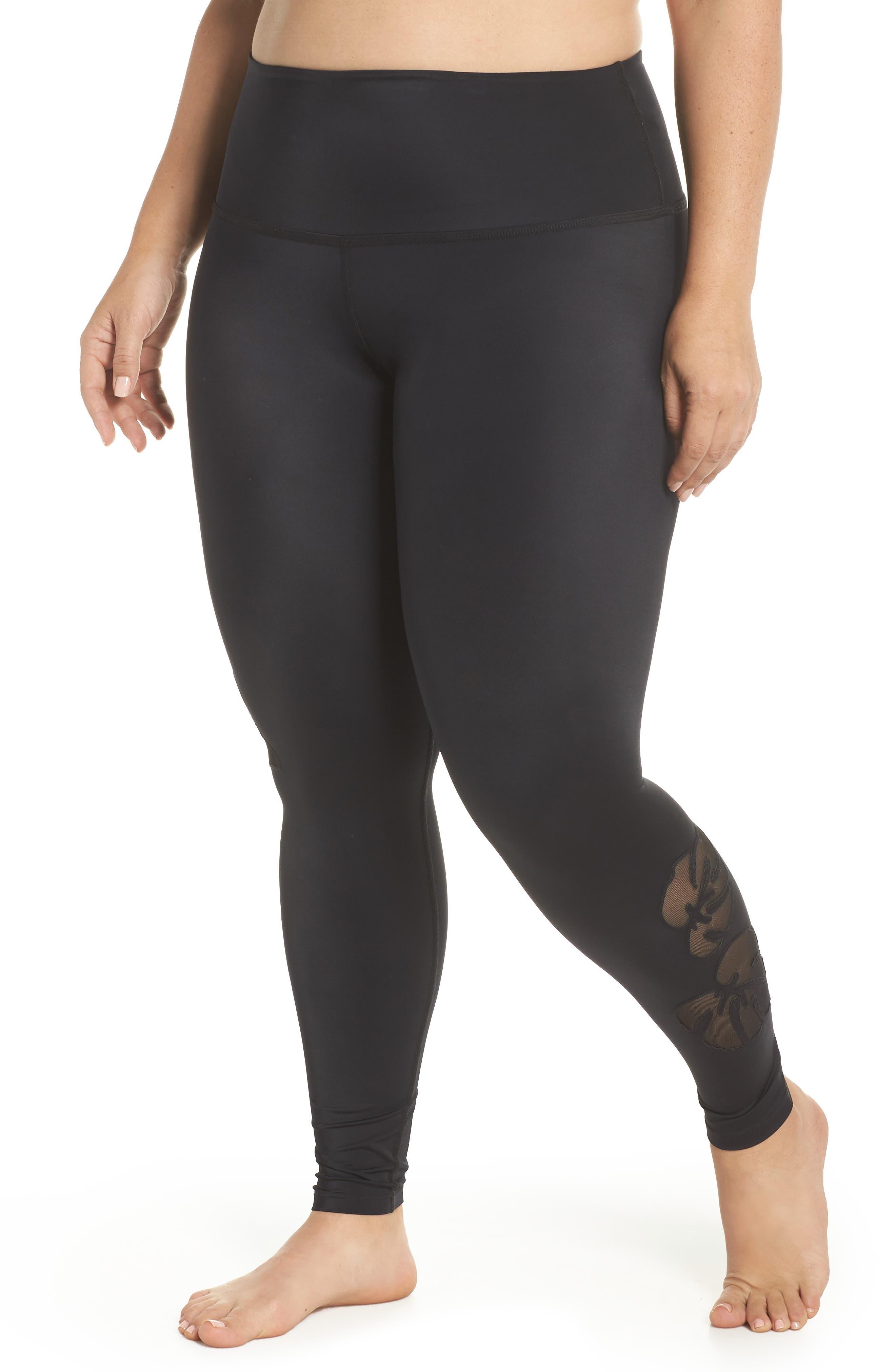 Take Leaf High Waist Leggings,                         Main,                         color, Black