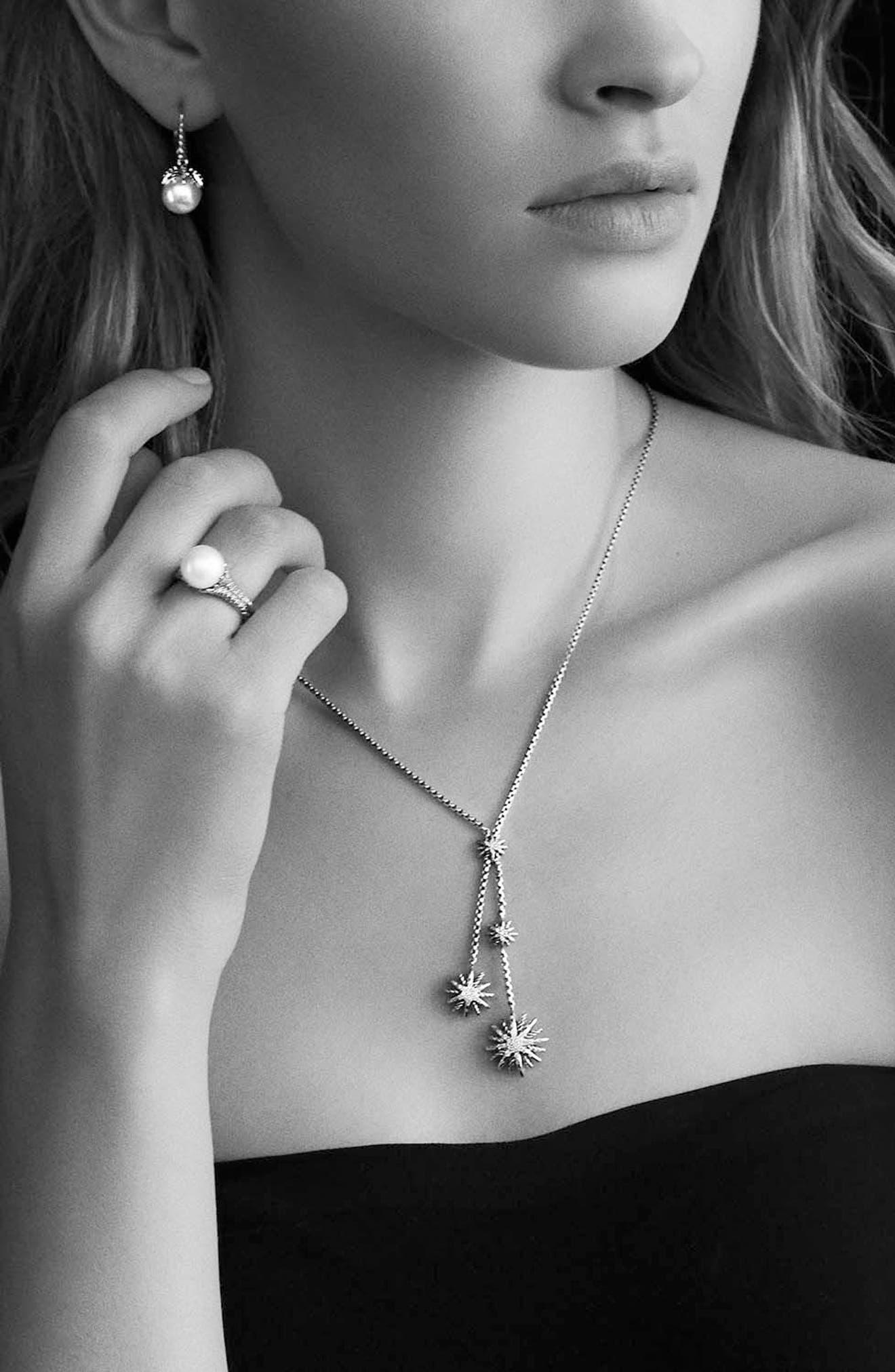 'Starburst' Y Necklace with Diamonds,                             Alternate thumbnail 4, color,                             Diamond