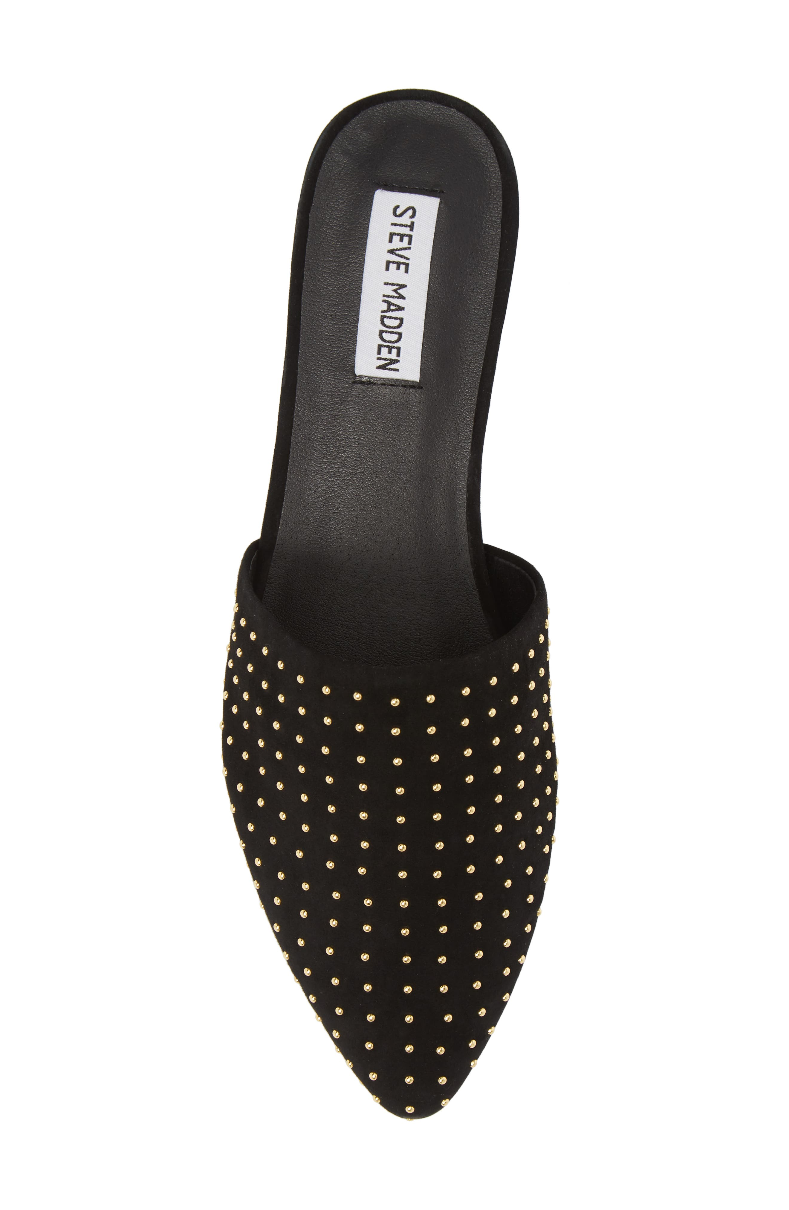 Trace Studded Mule,                             Alternate thumbnail 5, color,                             Black With Stud