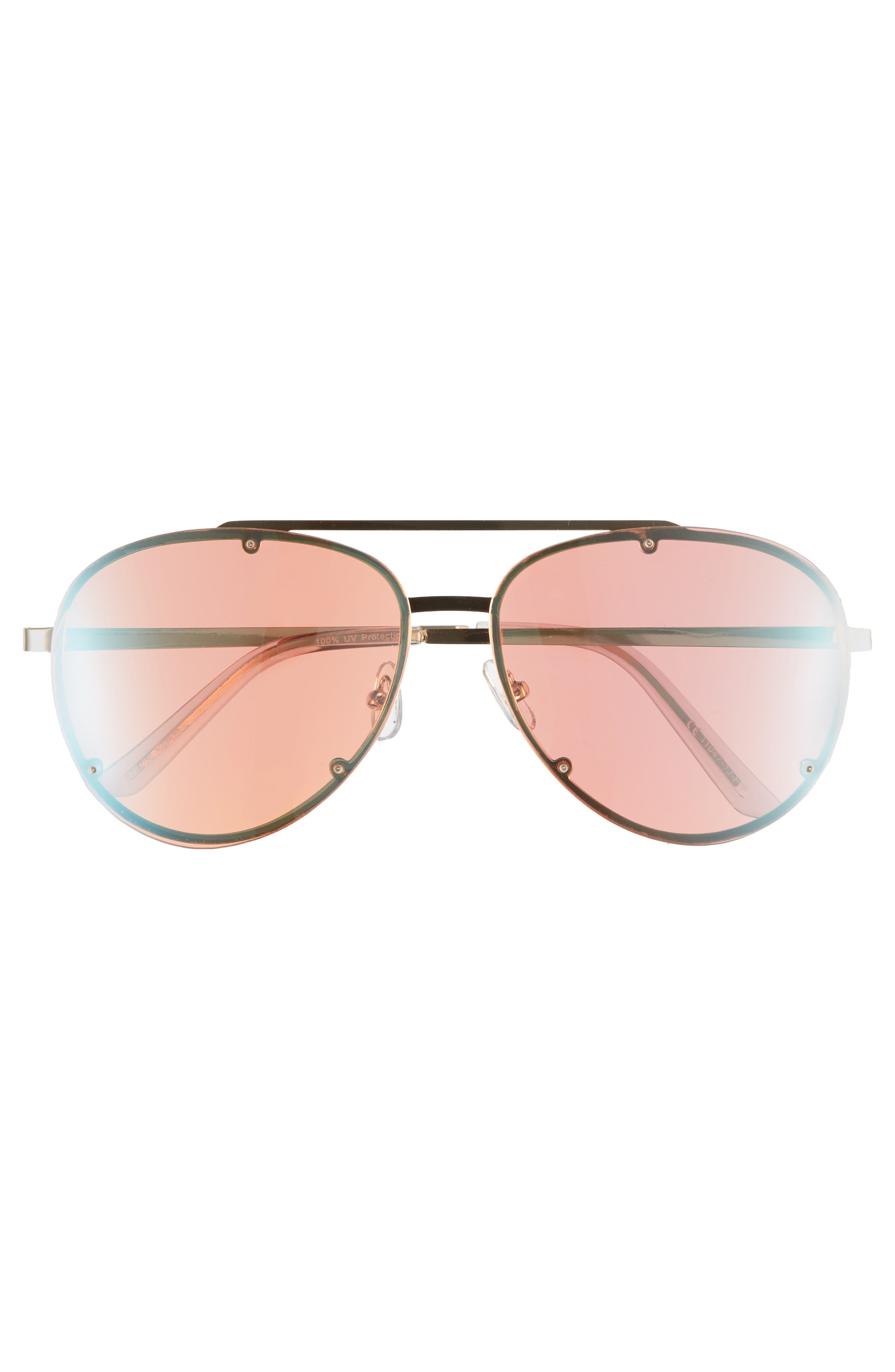 59mm Aviator Sunglasses,                             Alternate thumbnail 3, color,                             Multi