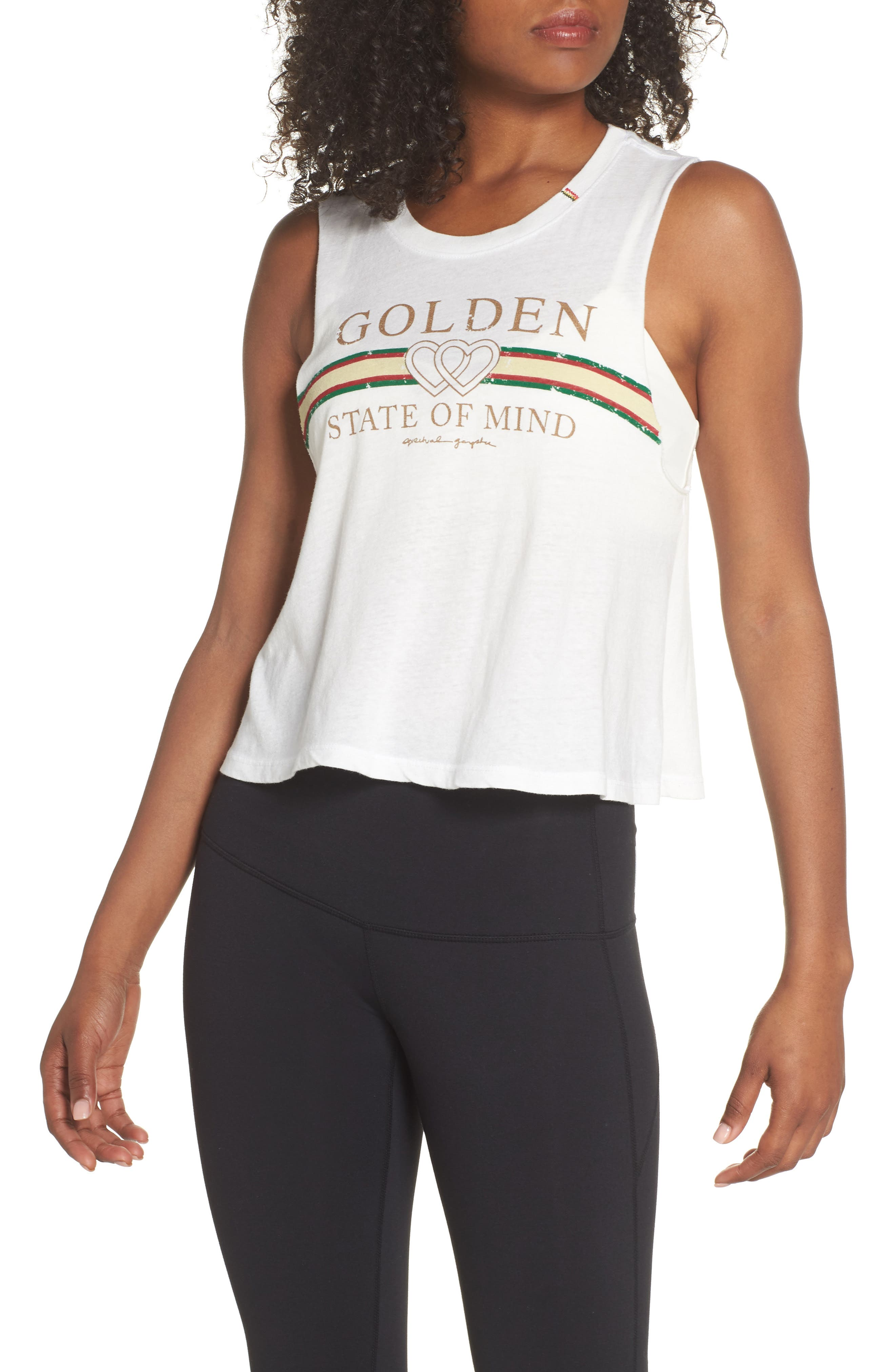 Golden State Crop Tank,                         Main,                         color, Stardust