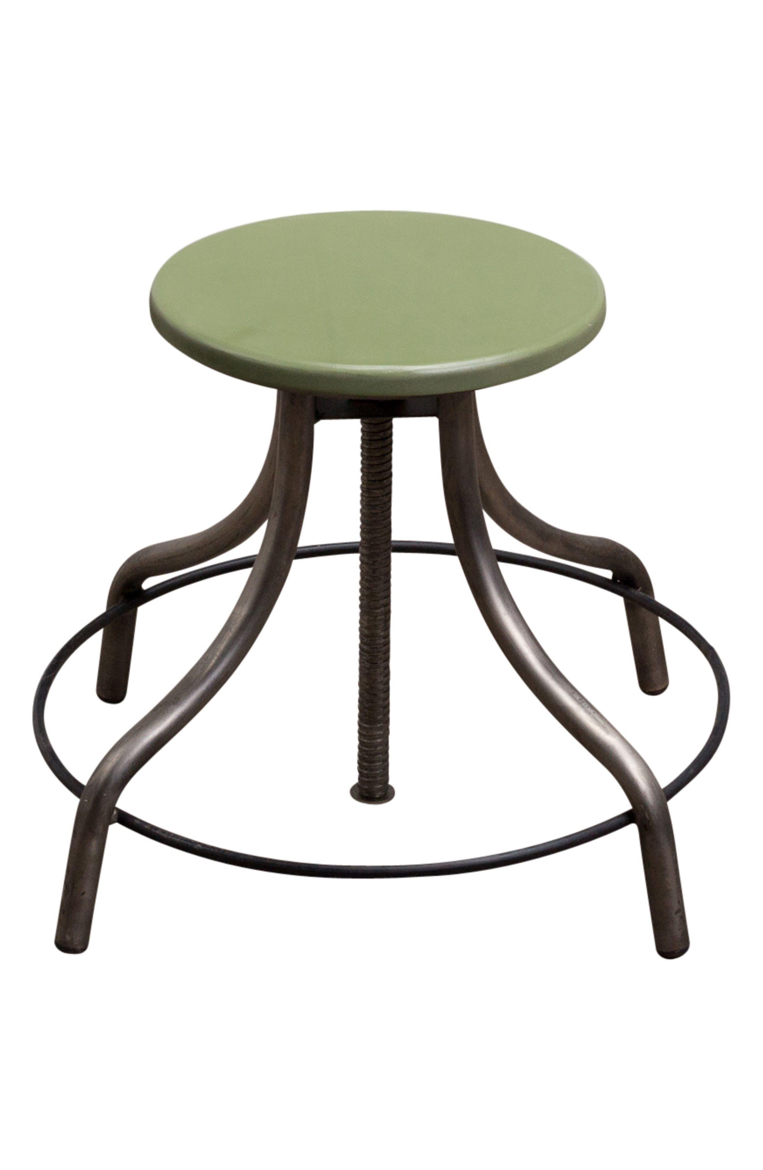 Factory Twist Stool,                             Alternate thumbnail 2, color,                             Green Patina Steel