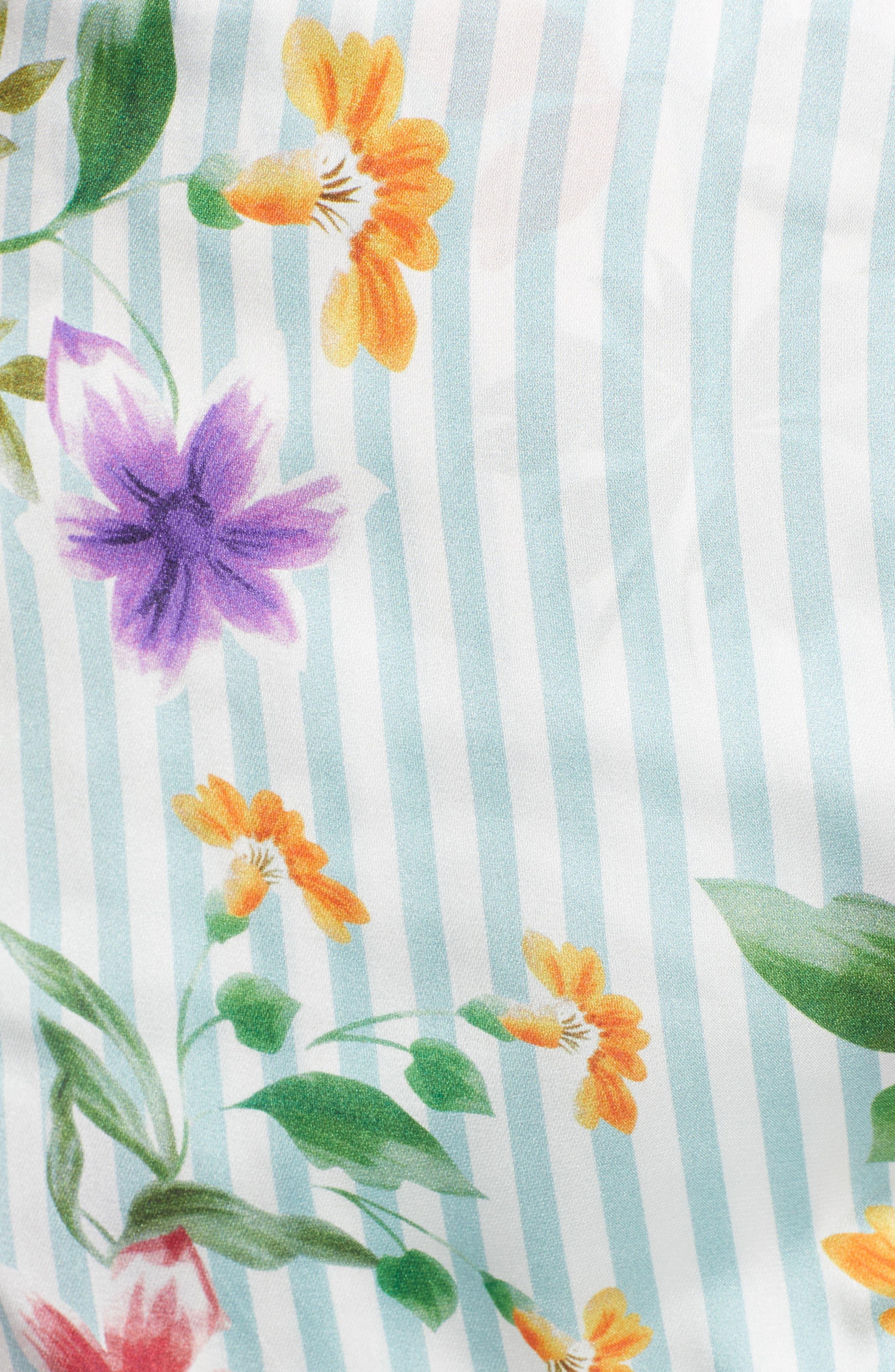 Barb Ruffle Dress,                             Alternate thumbnail 5, color,                             Blue Flowerbed