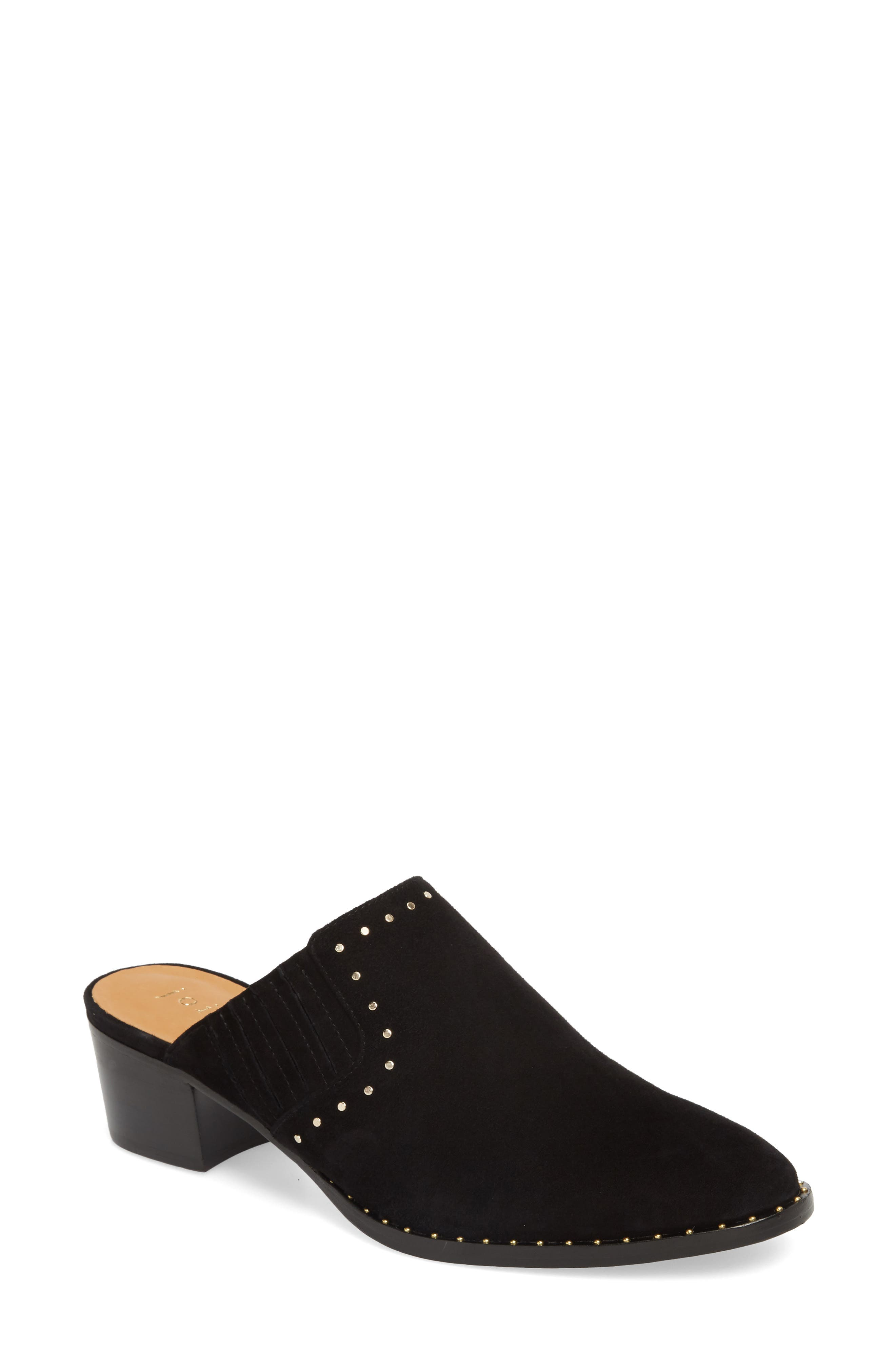 Fayla Studded Mule,                             Main thumbnail 1, color,                             Nero
