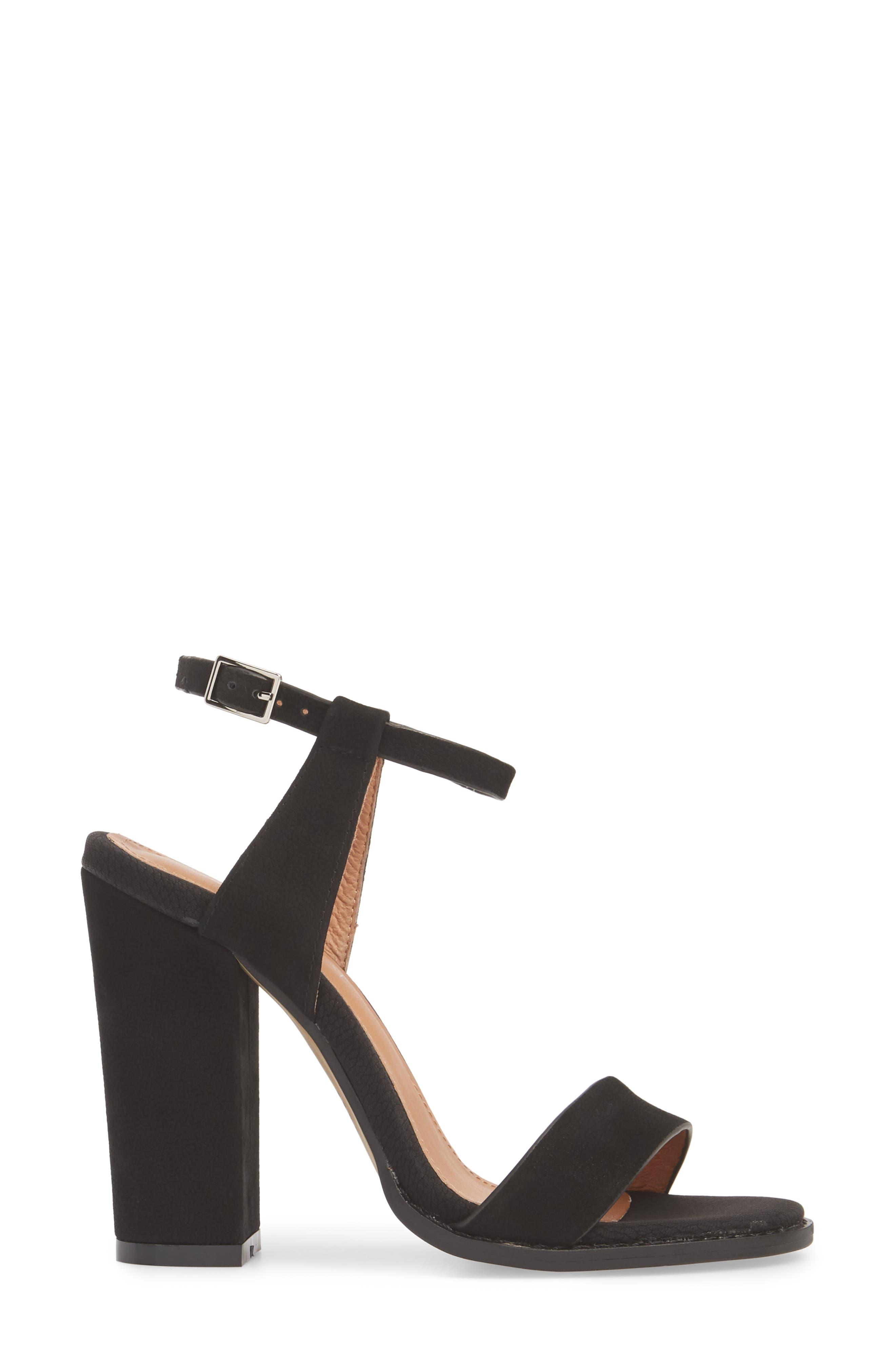Jynk Sandal,                             Alternate thumbnail 3, color,                             Black Leather