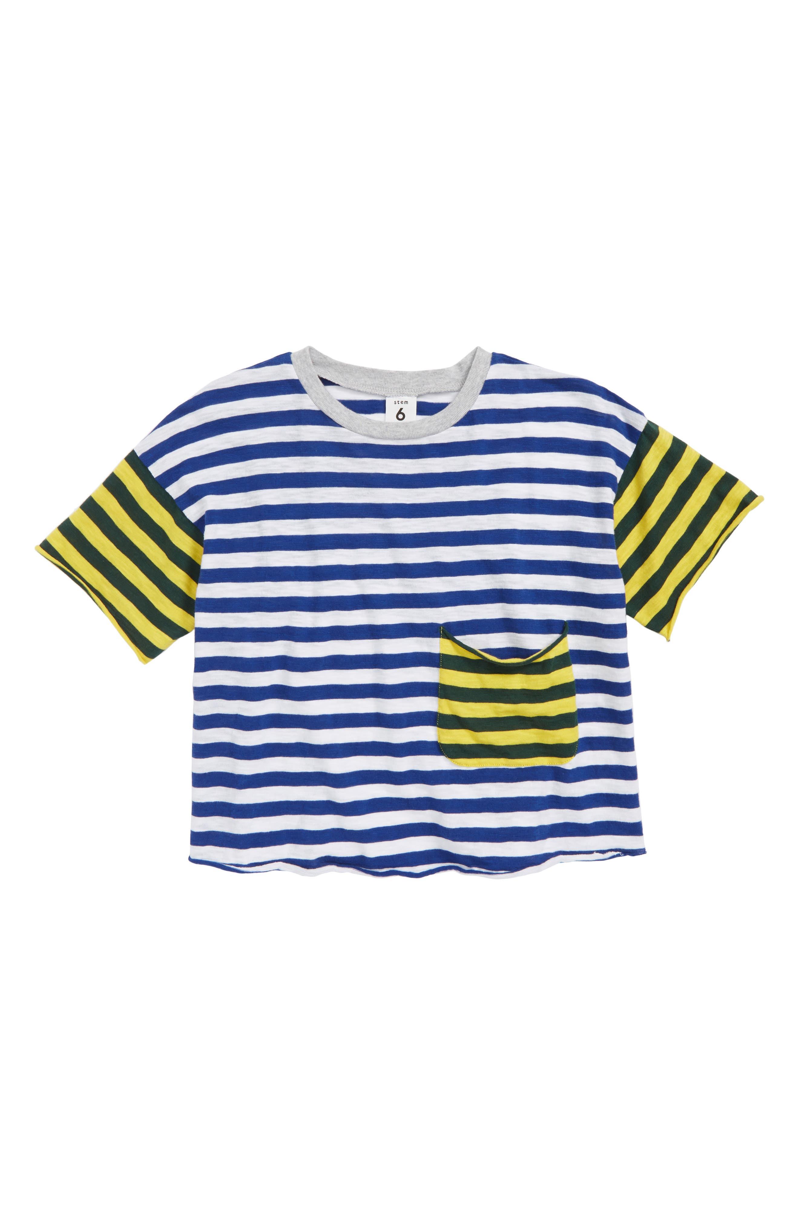 Stem Stripe Pocket T-Shirt (Toddler Boys, Little Boys & Big Boys)