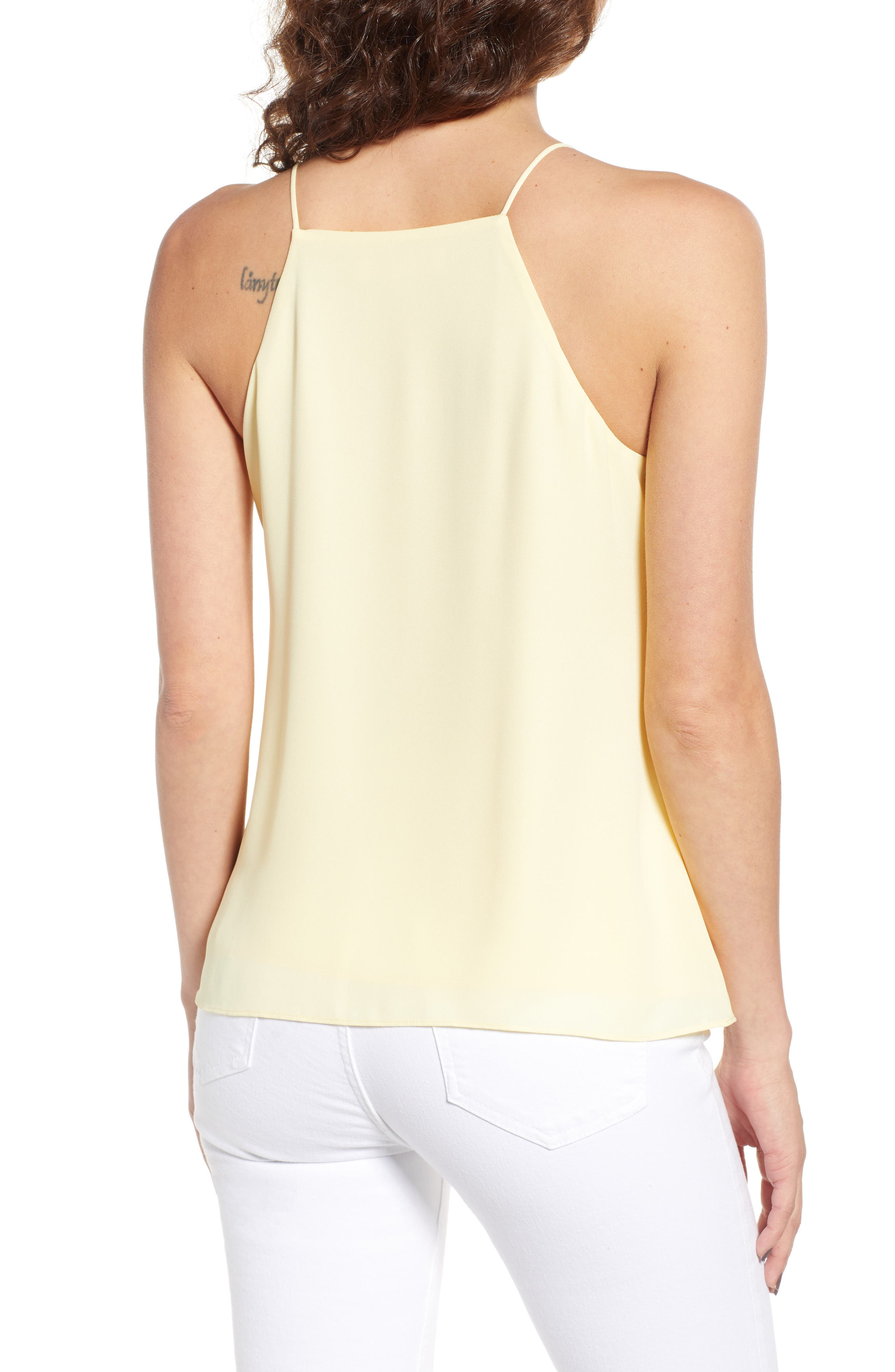 Posie Strappy Camisole,                             Alternate thumbnail 2, color,                             Yellow Pastel