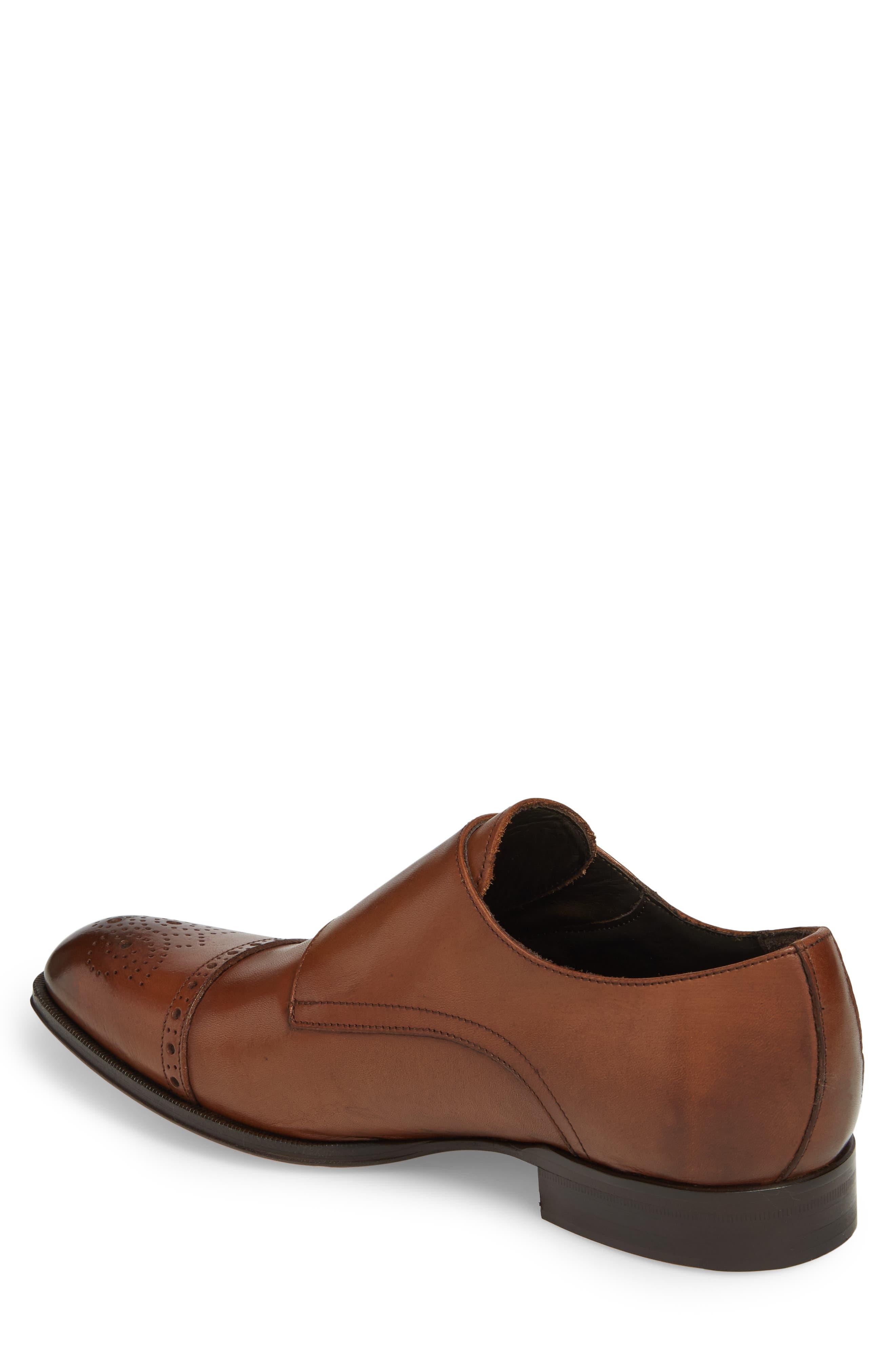 Dreyfus Cap Toe Monk Shoe,                             Alternate thumbnail 2, color,                             Brown