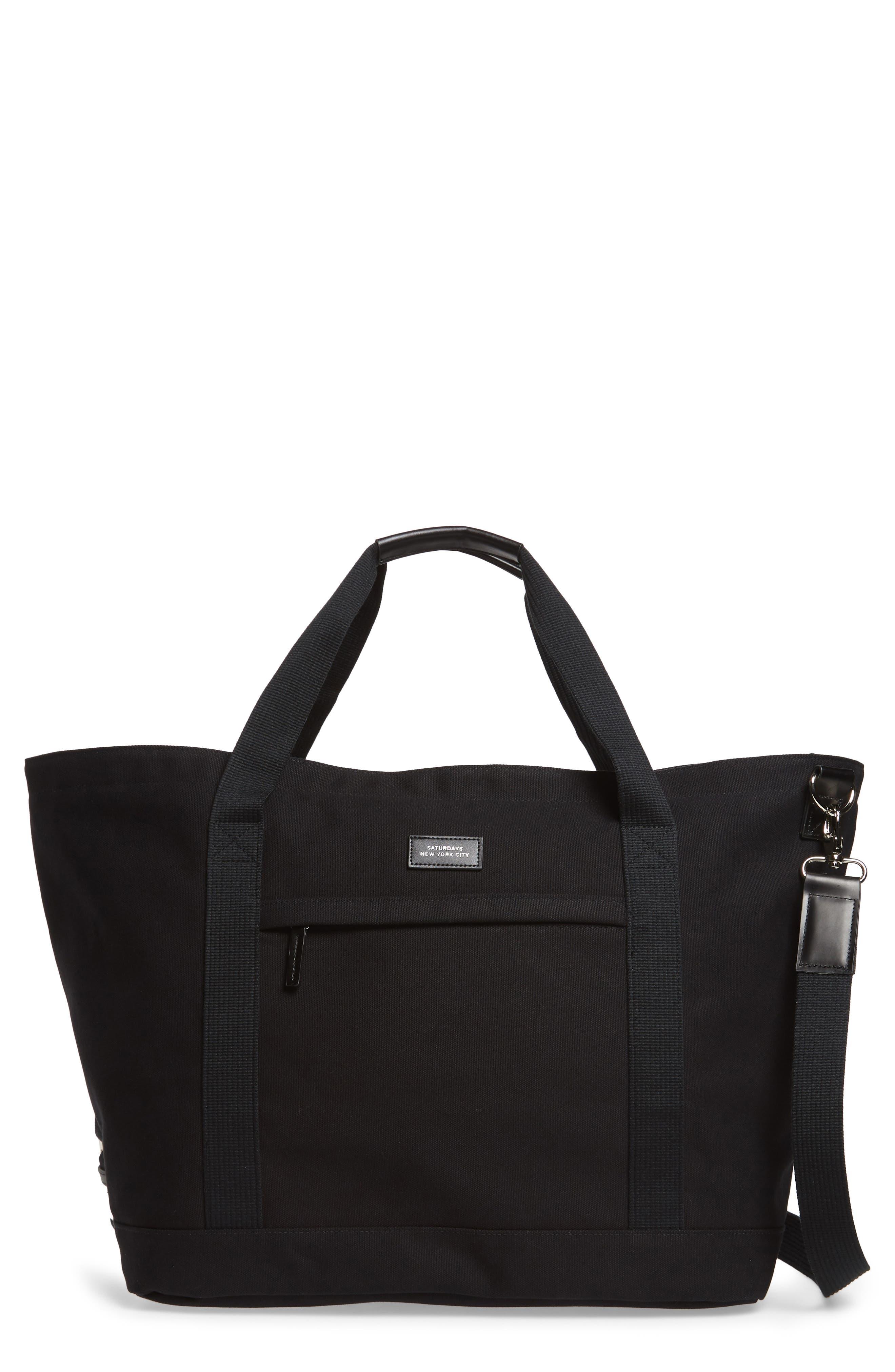 Weekend Water Repellent Tote Bag,                             Main thumbnail 1, color,                             Black