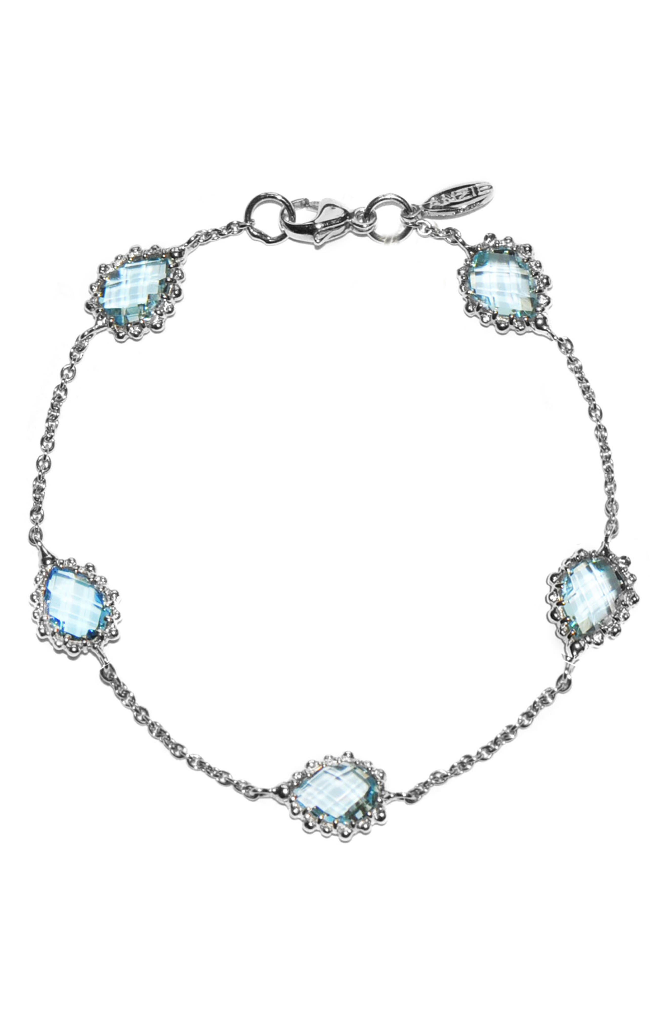 Dew Drop Blue Topaz Bracelet,                             Main thumbnail 1, color,                             Blue Topaz