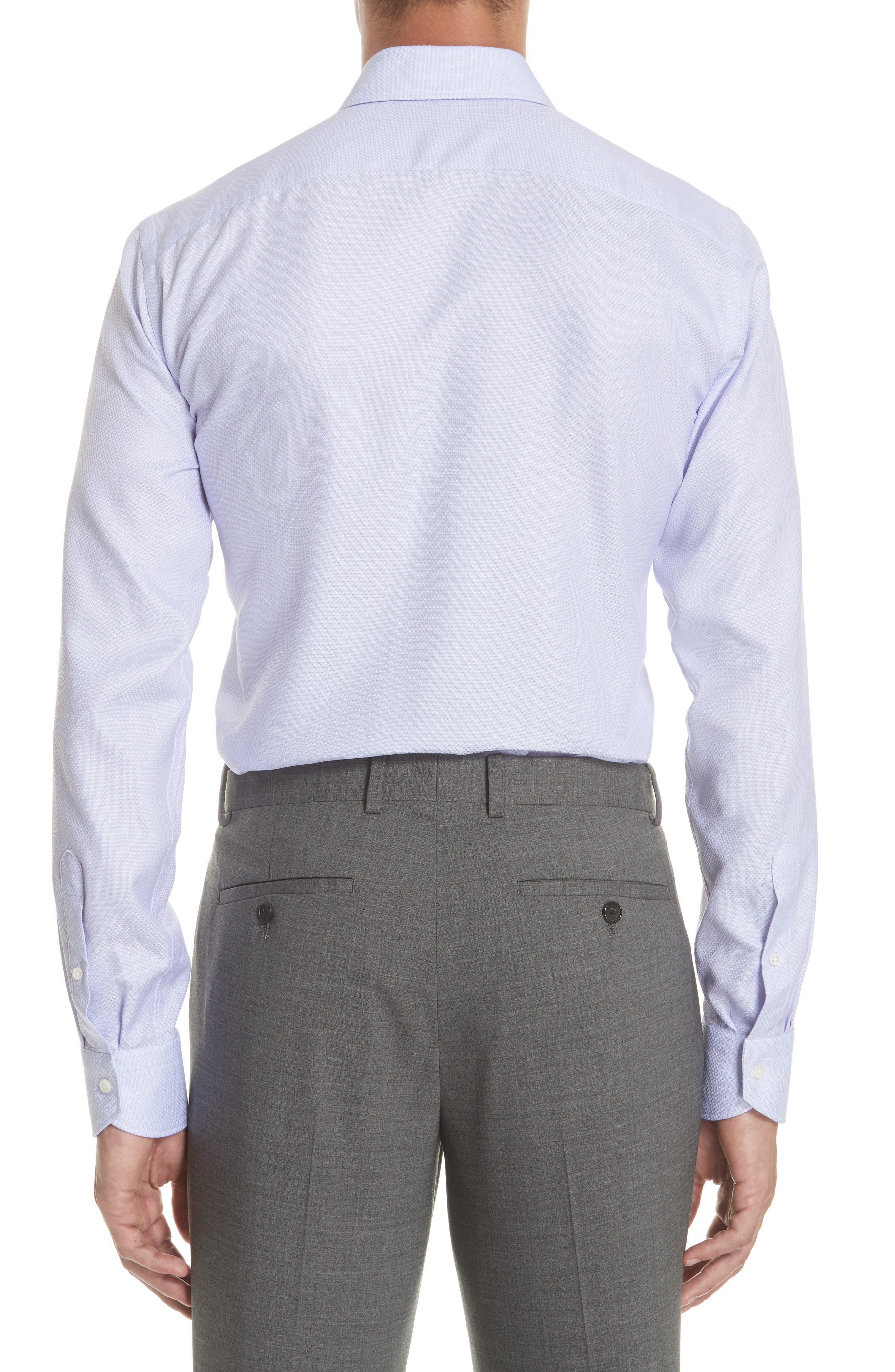 Regular Fit Dress Shirt,                             Alternate thumbnail 3, color,                             Light Purple