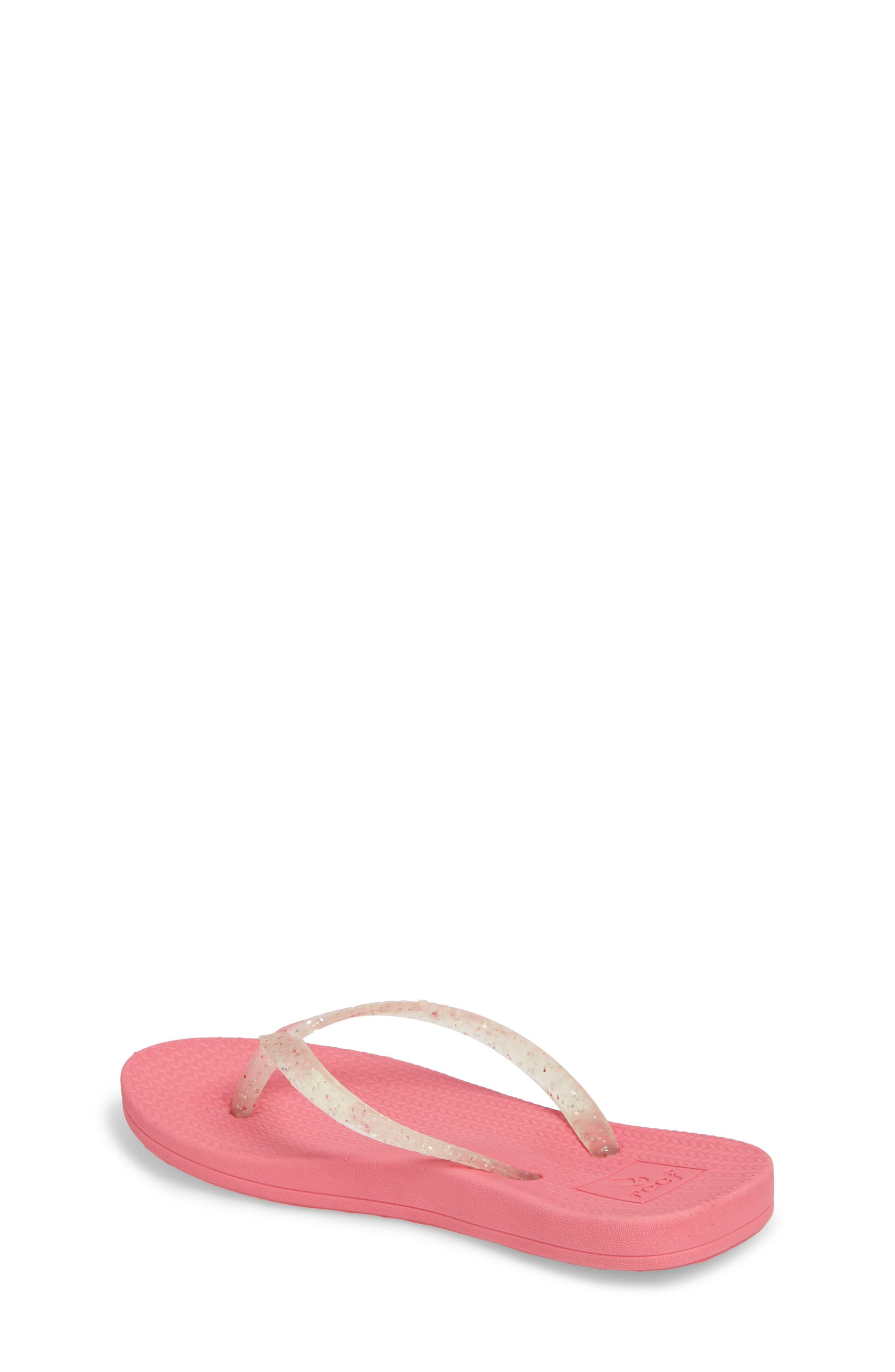 Little Reef Escape Shimmer Flip Flops,                             Alternate thumbnail 2, color,                             Pink