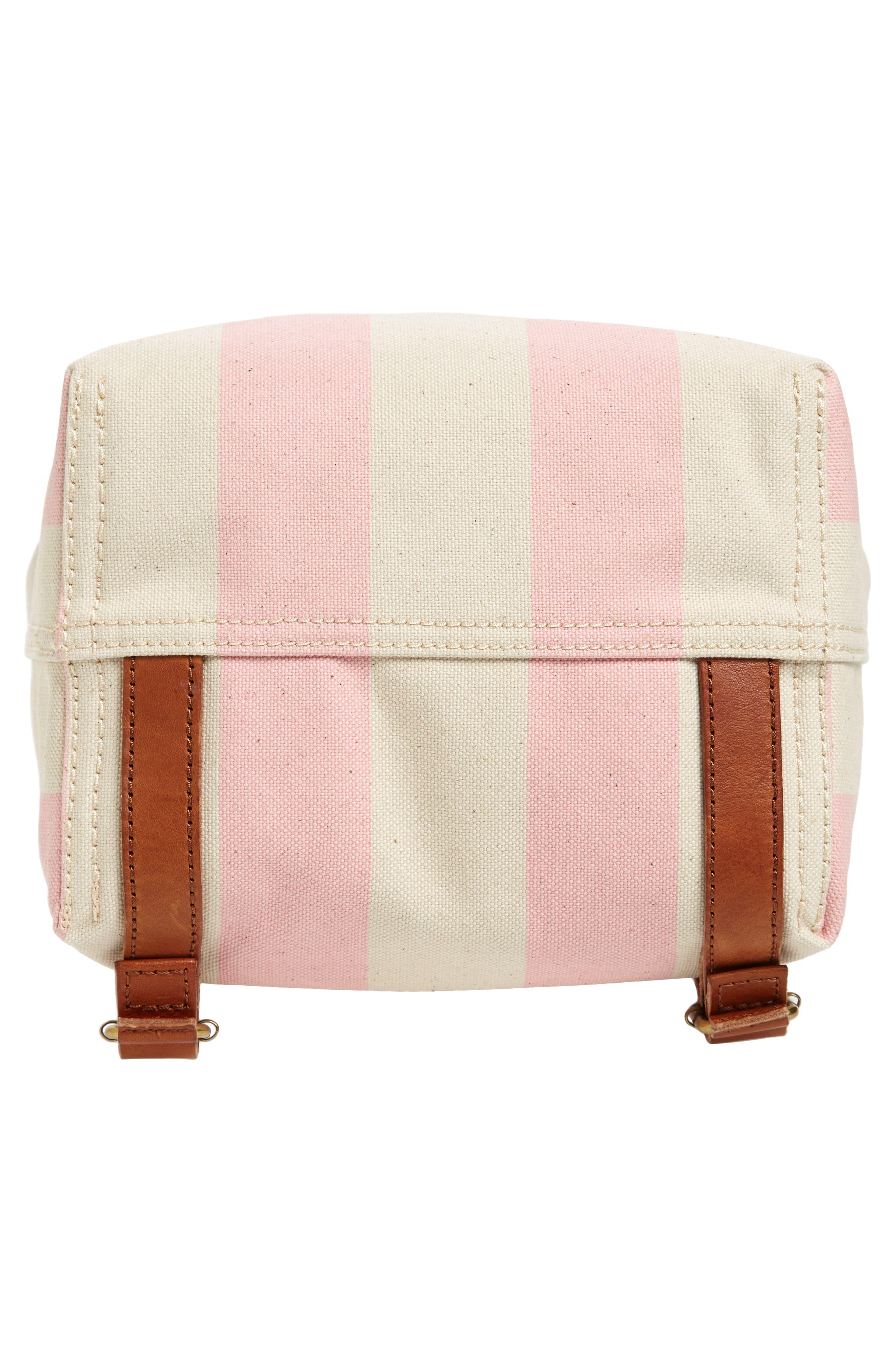 Somerset Canvas Backpack,                             Alternate thumbnail 6, color,                             Petal Pink Stripe