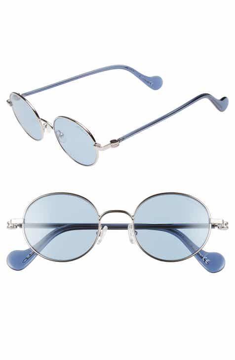 d50ad4430774 Moncler 49mm Round Metal Sunglasses