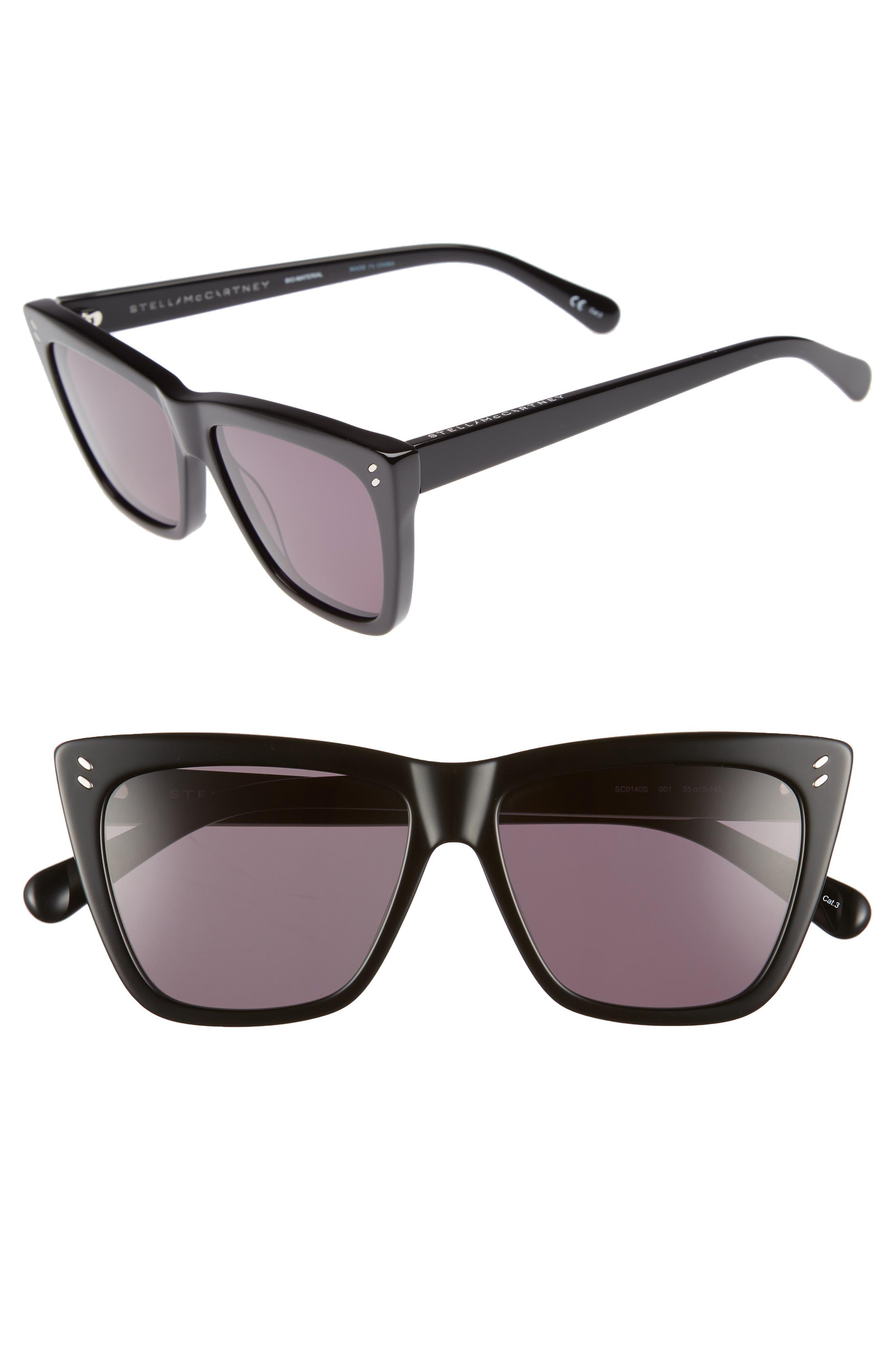 Stella McCartney 55mm Polarized Sunglasses