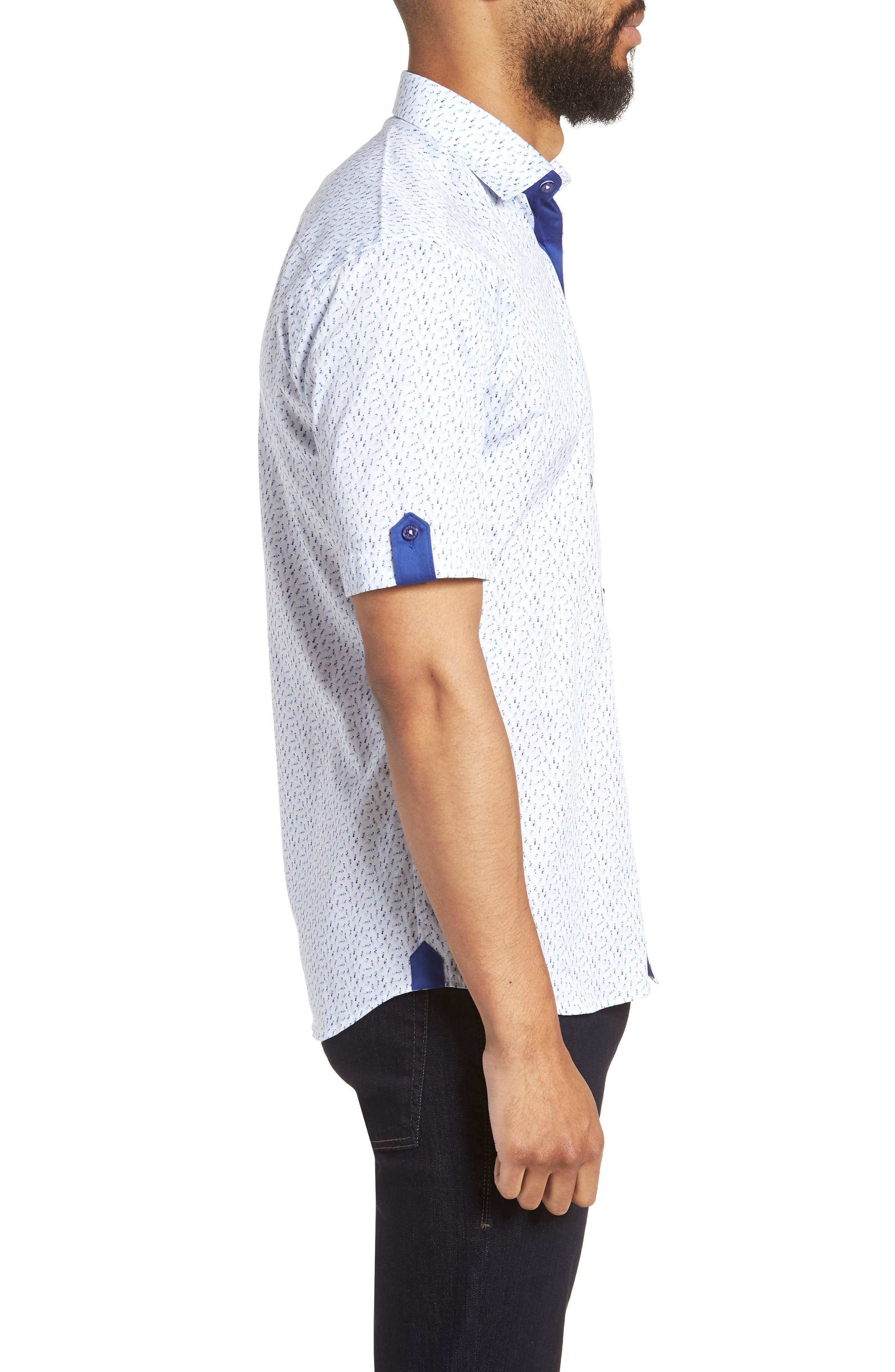 Fresh Swimsuit Print Sport Shirt,                             Alternate thumbnail 4, color,                             Blue