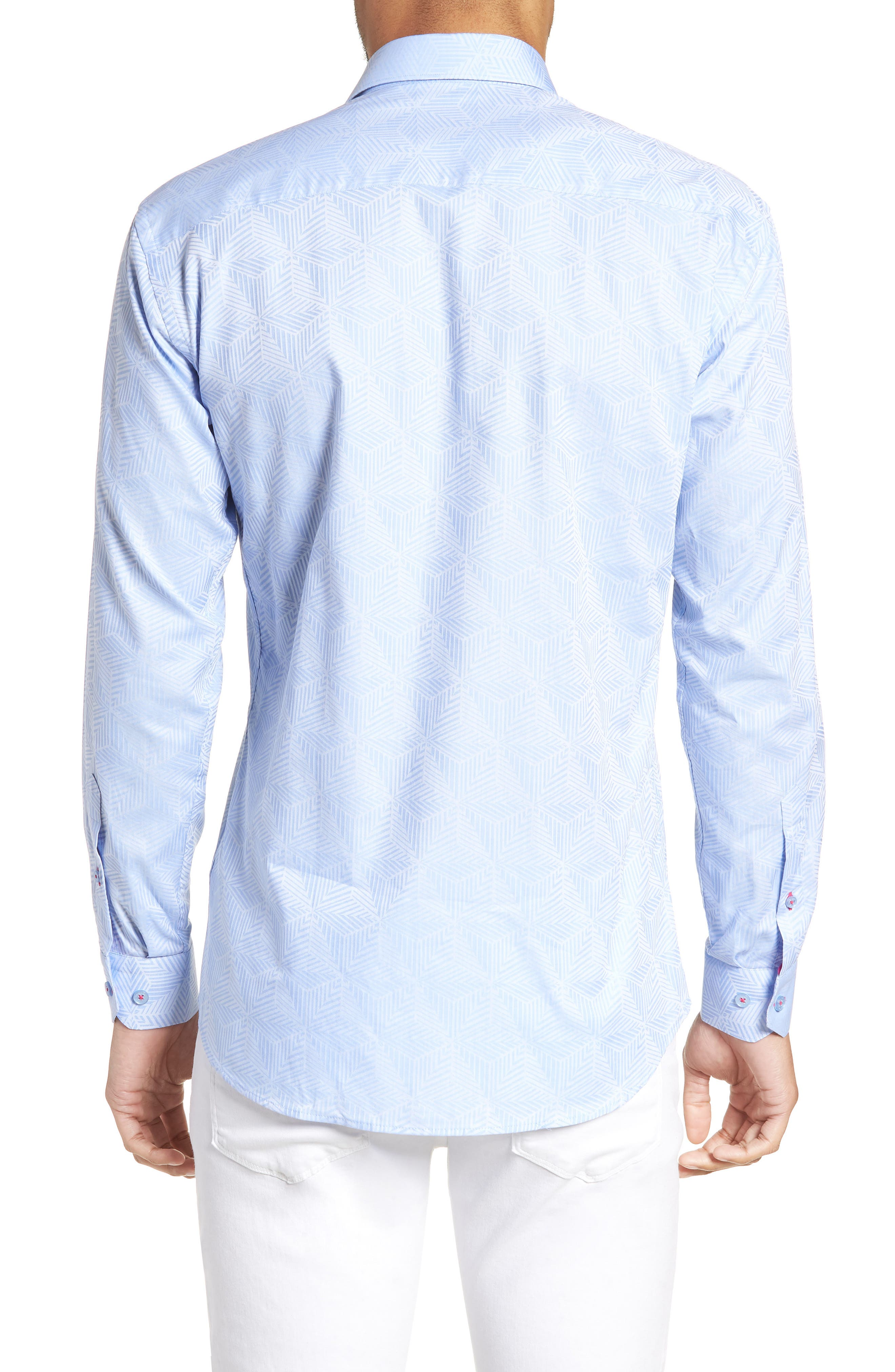 Luxor Cycad Sport Shirt,                             Alternate thumbnail 3, color,                             Blue
