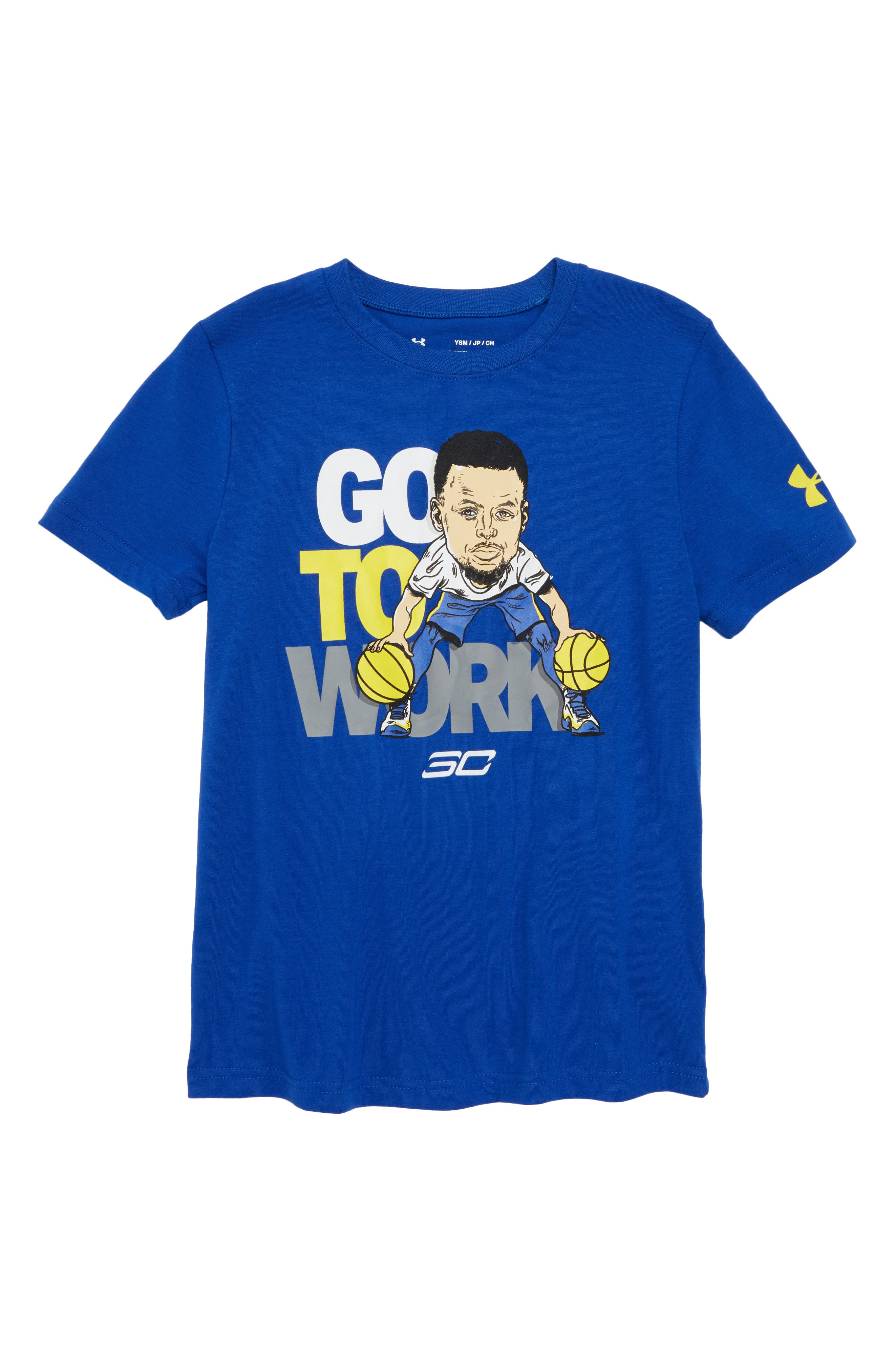SC30 Go to Work Graphic T-Shirt,                         Main,                         color, Royal/ White