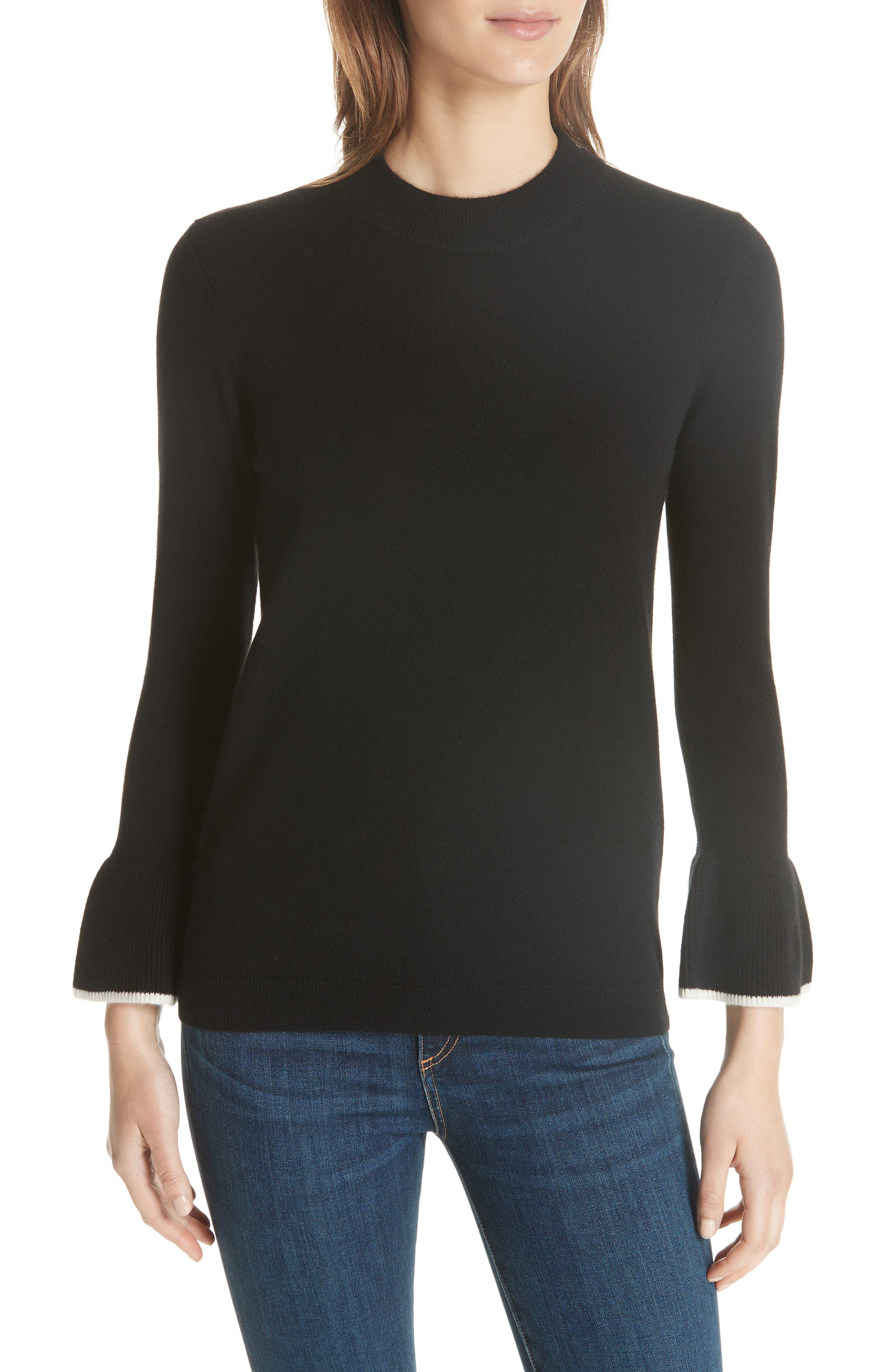 Mar Cashmere Sweater,                             Main thumbnail 1, color,                             Black