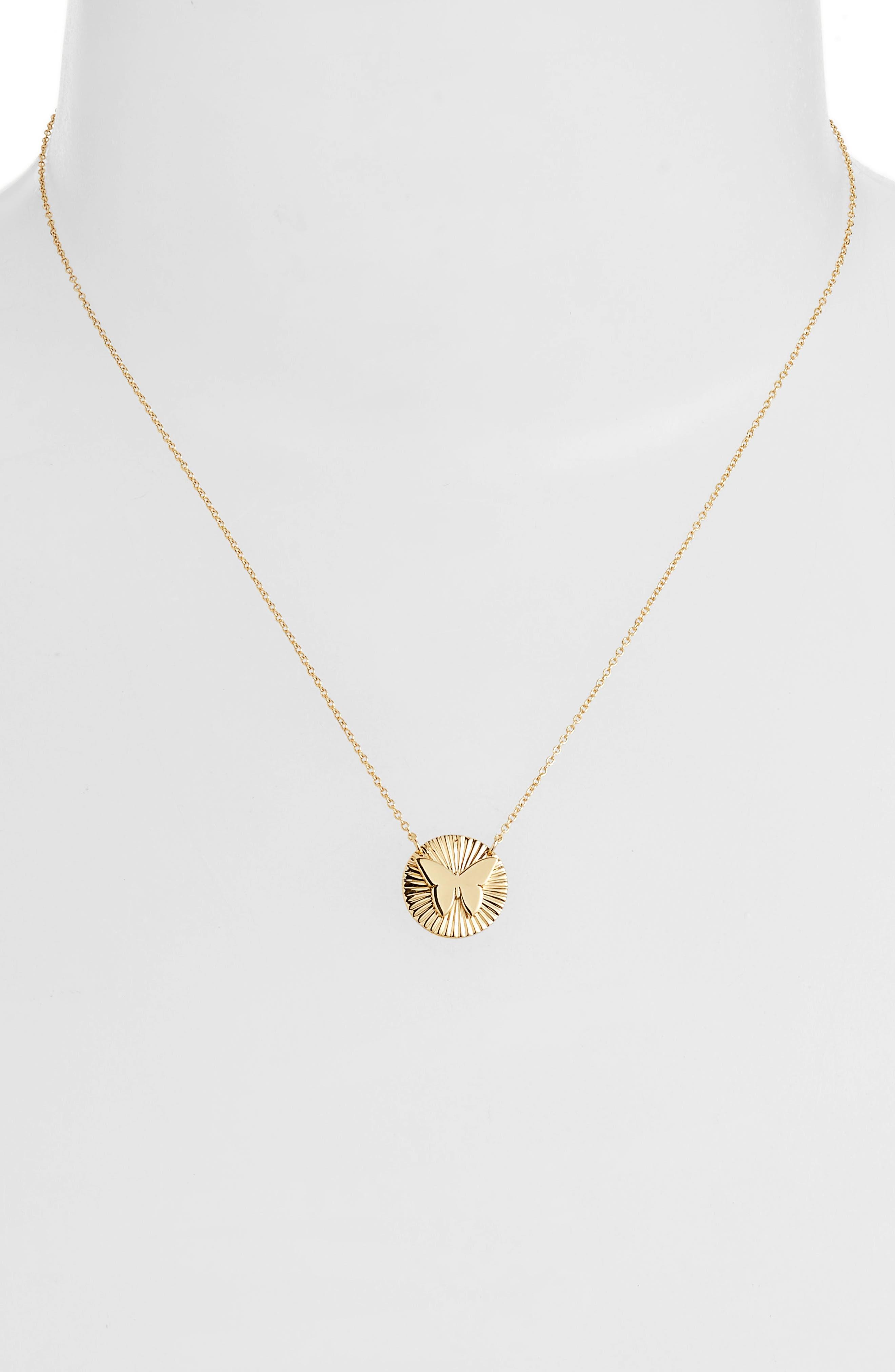 Iris Mini Mariah Starburst Pendant Necklace,                             Alternate thumbnail 2, color,                             Yellow Vermeil