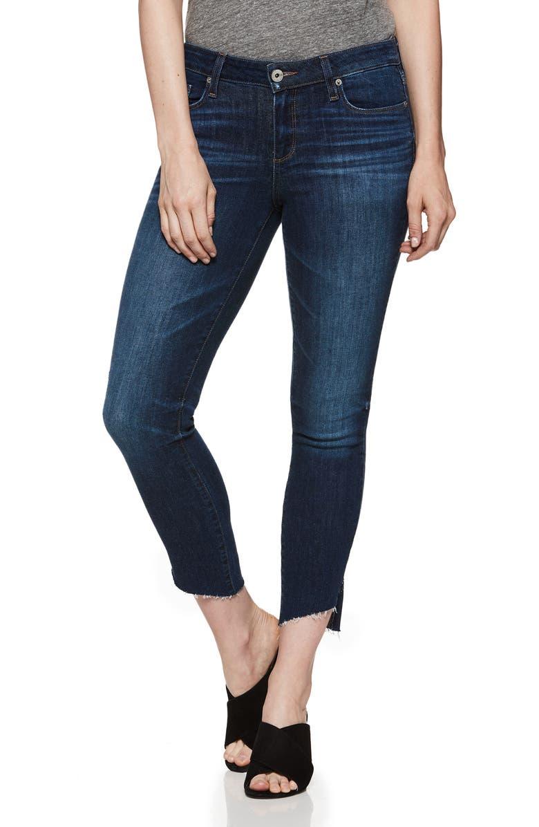 Verdugo Transcend Vintage Angled Raw Hem Crop Jeans