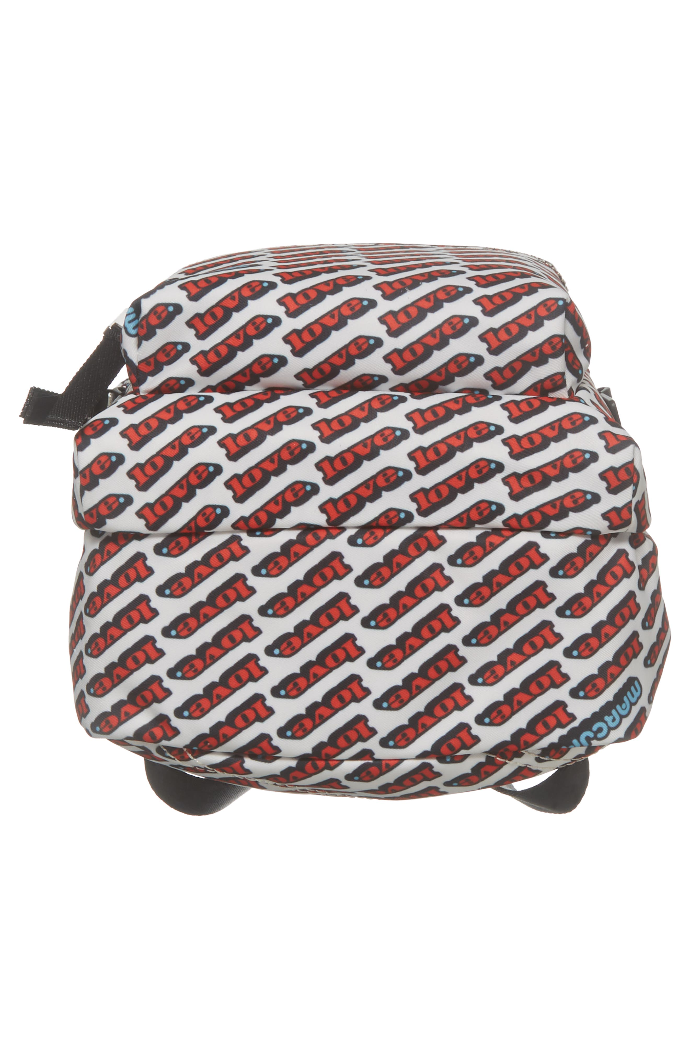 Mini Trek Love Backpack,                             Alternate thumbnail 5, color,                             Red Multi