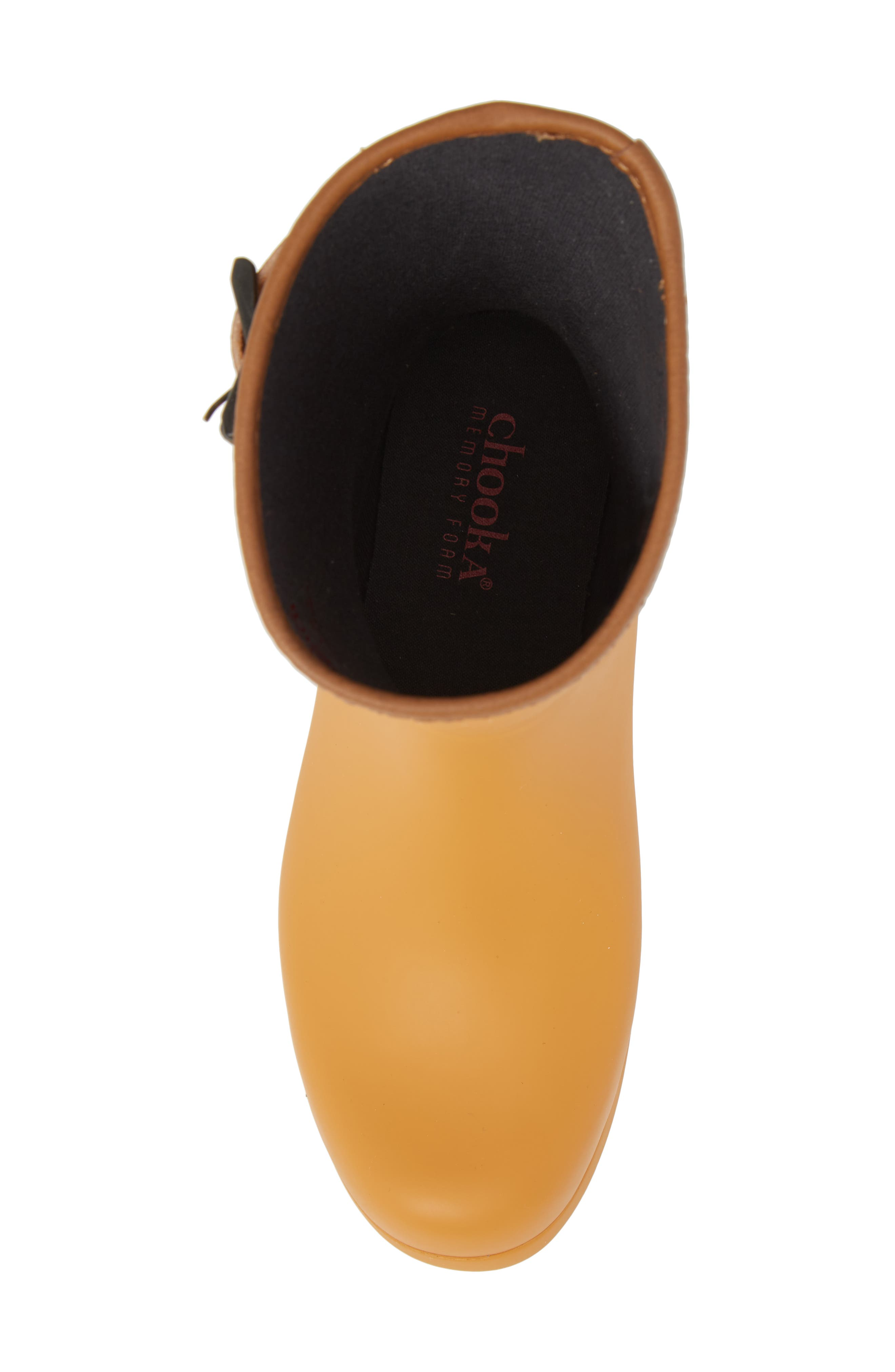 City Solid Mid Height Rain Boot,                             Alternate thumbnail 5, color,                             Saffron