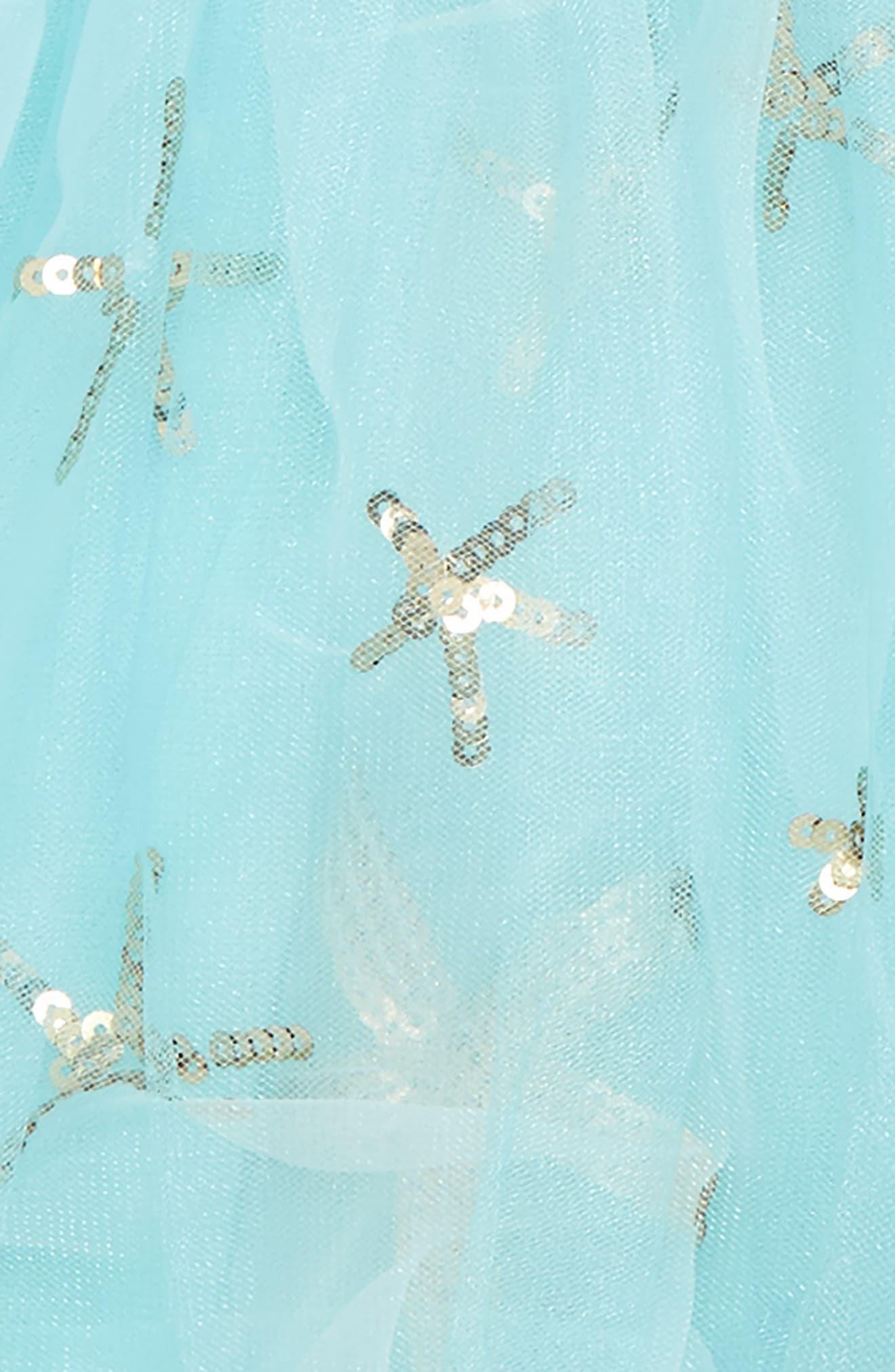 Starfish Bubble Tulle Skirt,                             Alternate thumbnail 2, color,                             Aqua