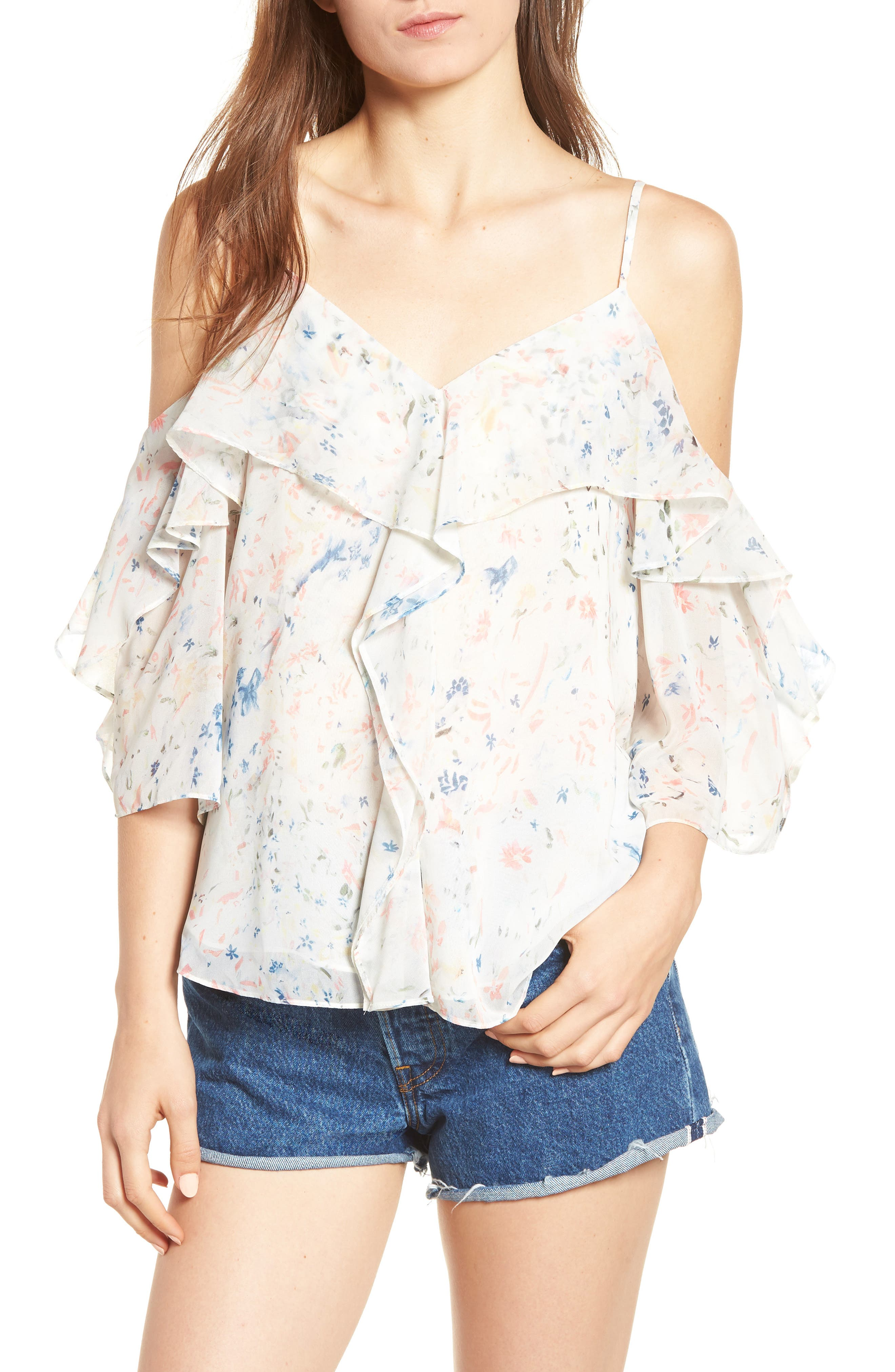 Jasmine Juni Top,                             Main thumbnail 1, color,                             Chalk White