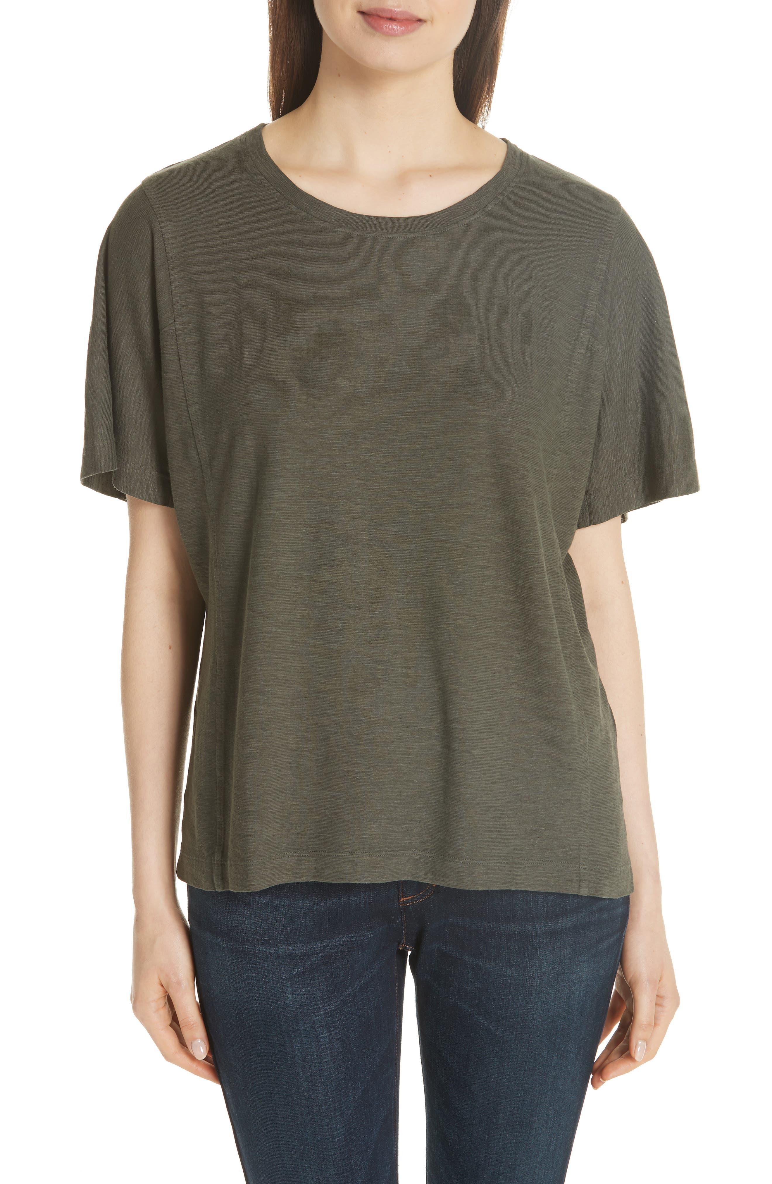Eileen Fisher Hemp & Organic Cotton Top (Regular & Petite)