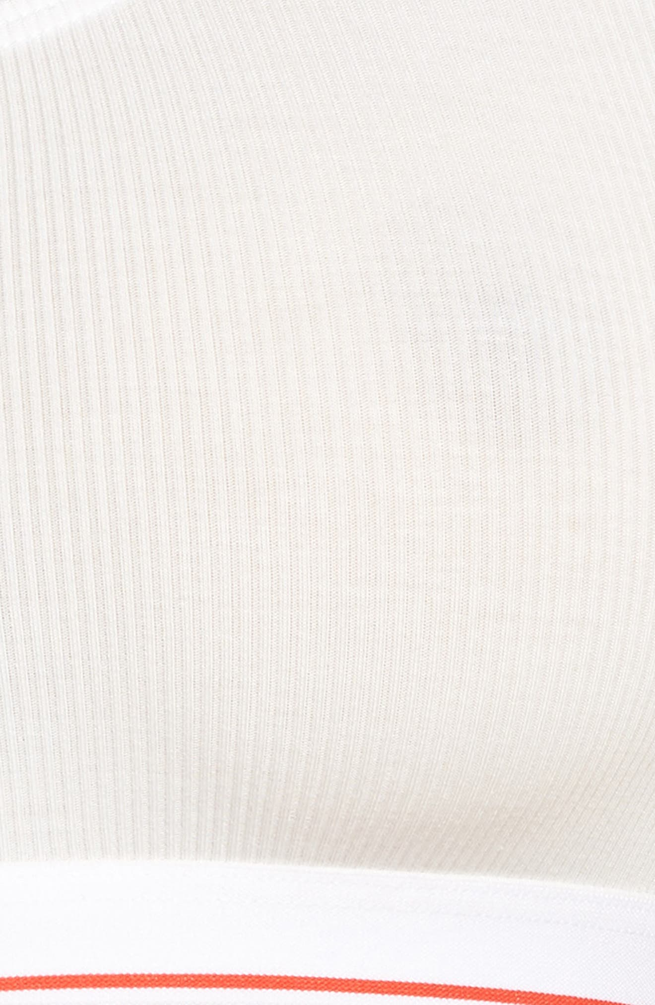 Rib Knit Bralette,                             Alternate thumbnail 8, color,                             Eyelet White