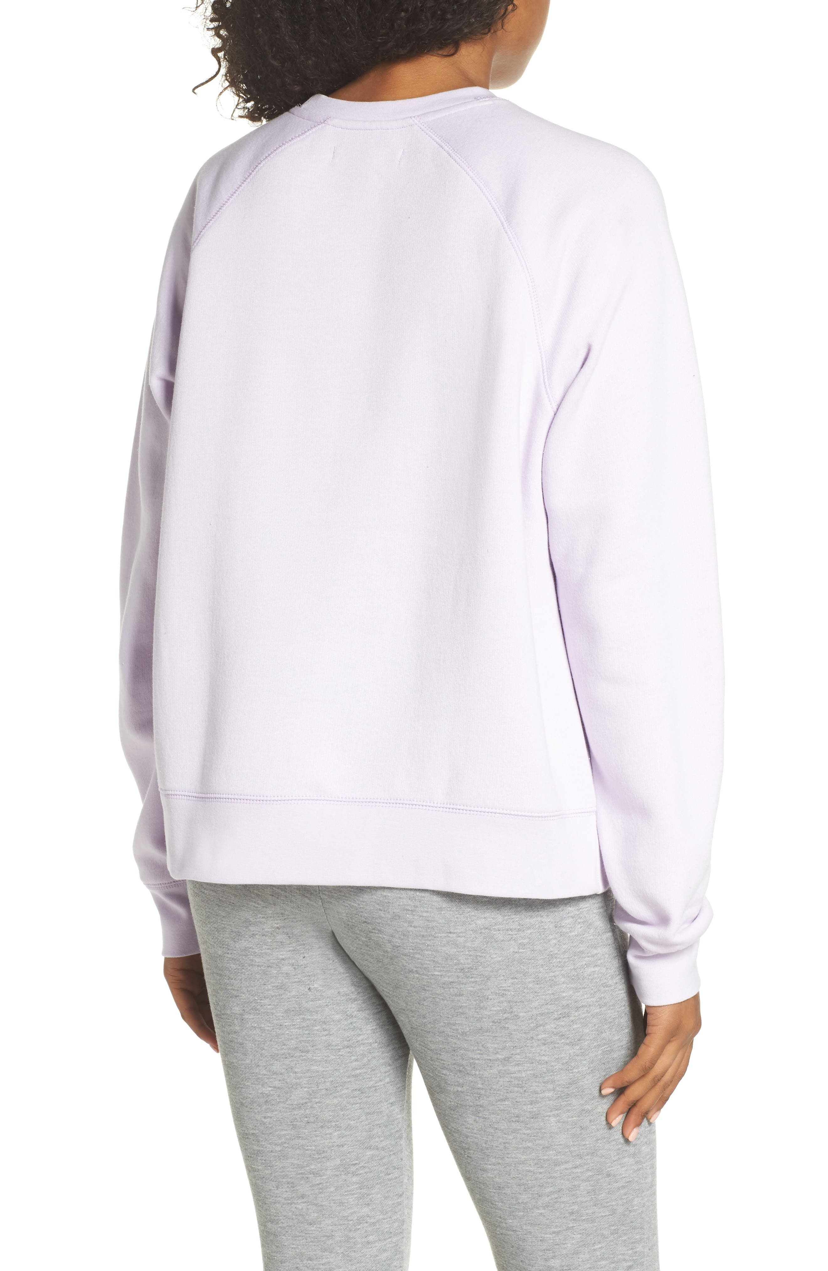 Beach Babe Middle Sister Crewneck Sweatshirt,                             Alternate thumbnail 2, color,                             Soft Lavender