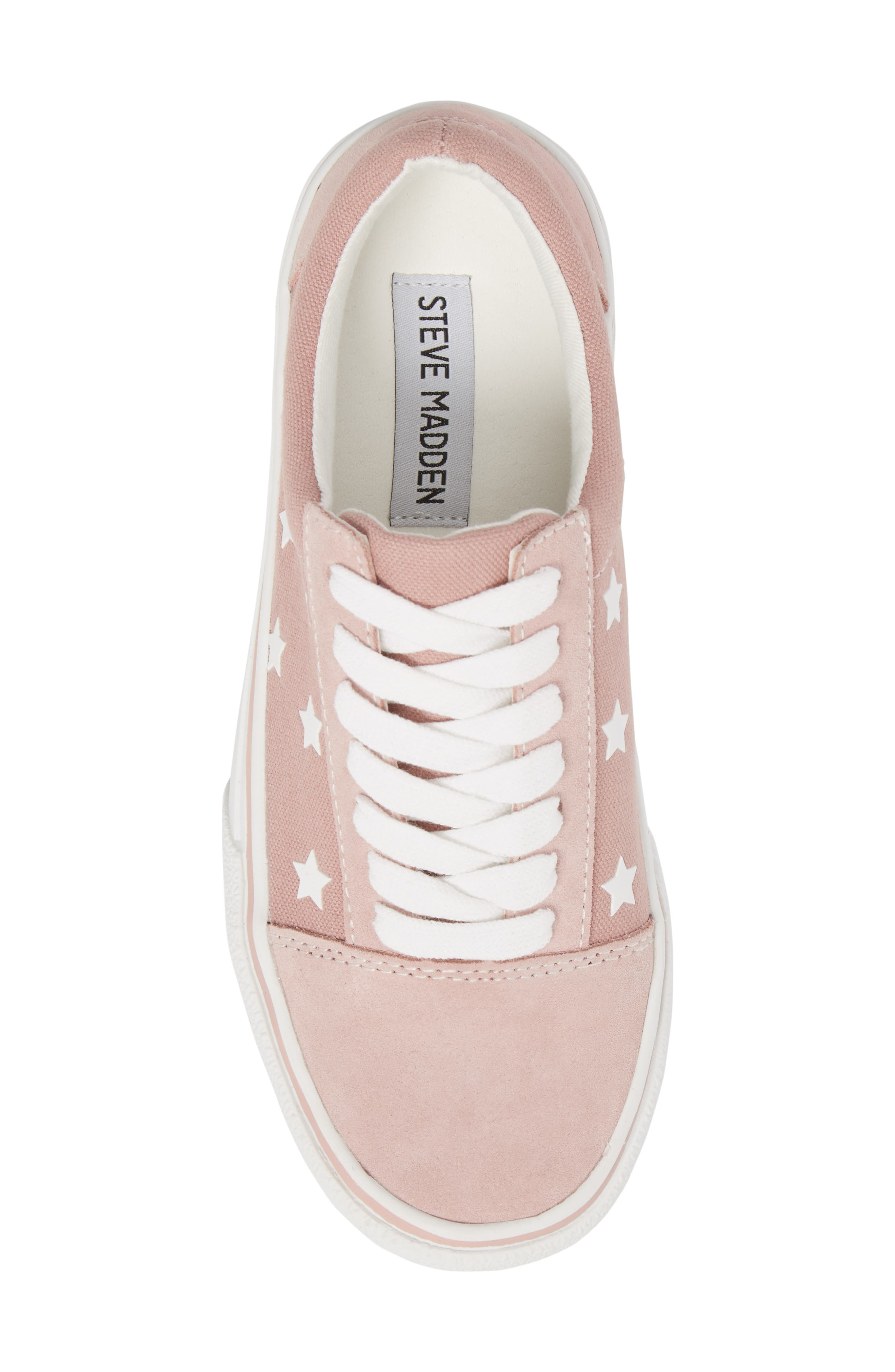 Emile Platform Sneaker,                             Alternate thumbnail 5, color,                             Pink Suede