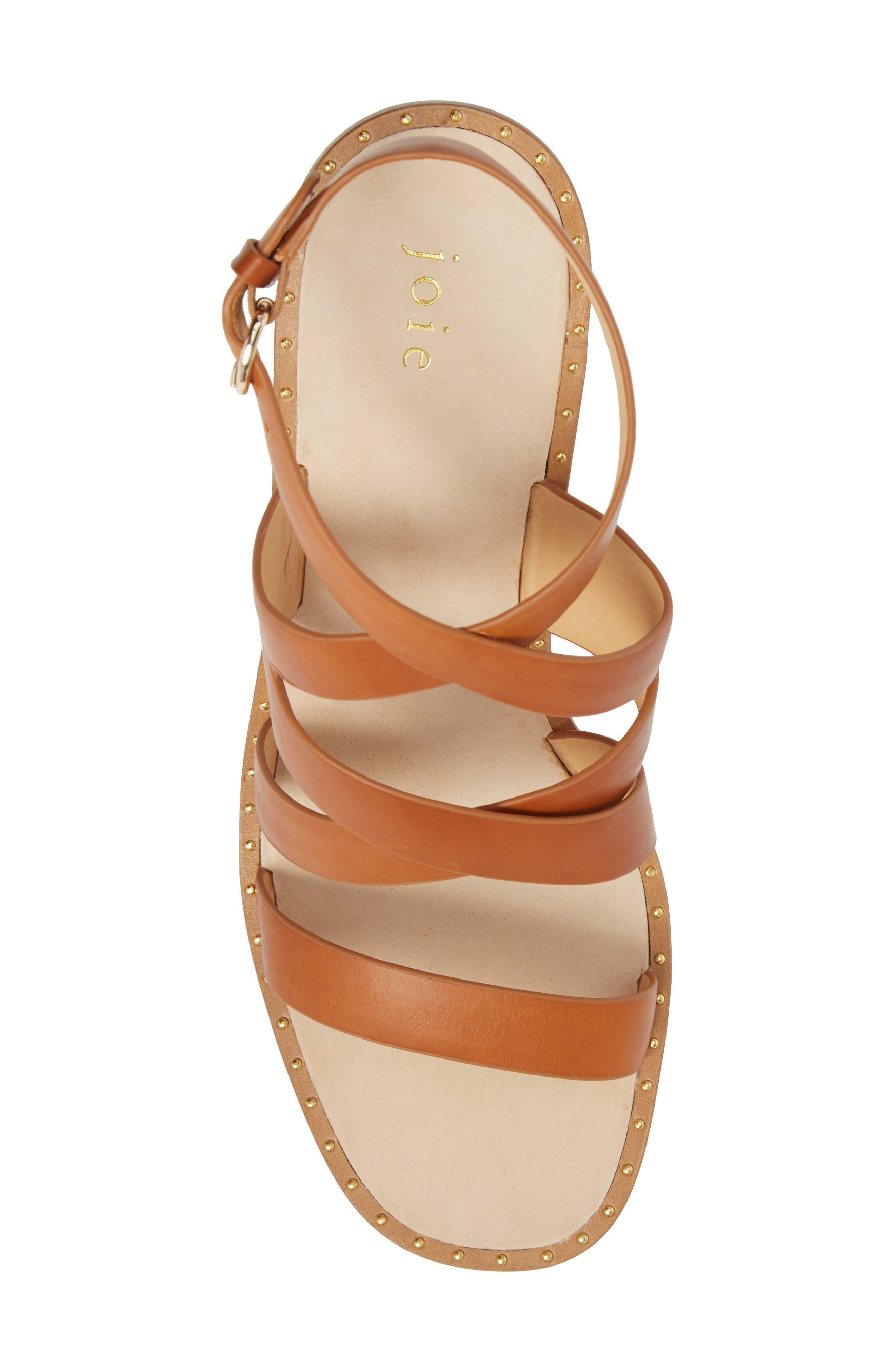 Onfer Studded Strappy Sandal,                             Alternate thumbnail 5, color,                             Tan