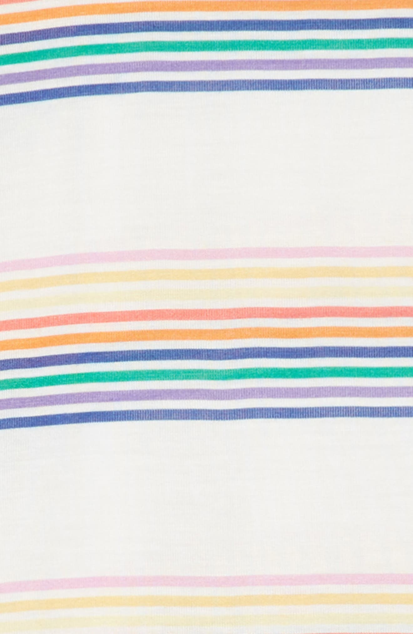 Mineral Wash T-Shirt Dress,                             Alternate thumbnail 3, color,                             Surf The Web Stripe