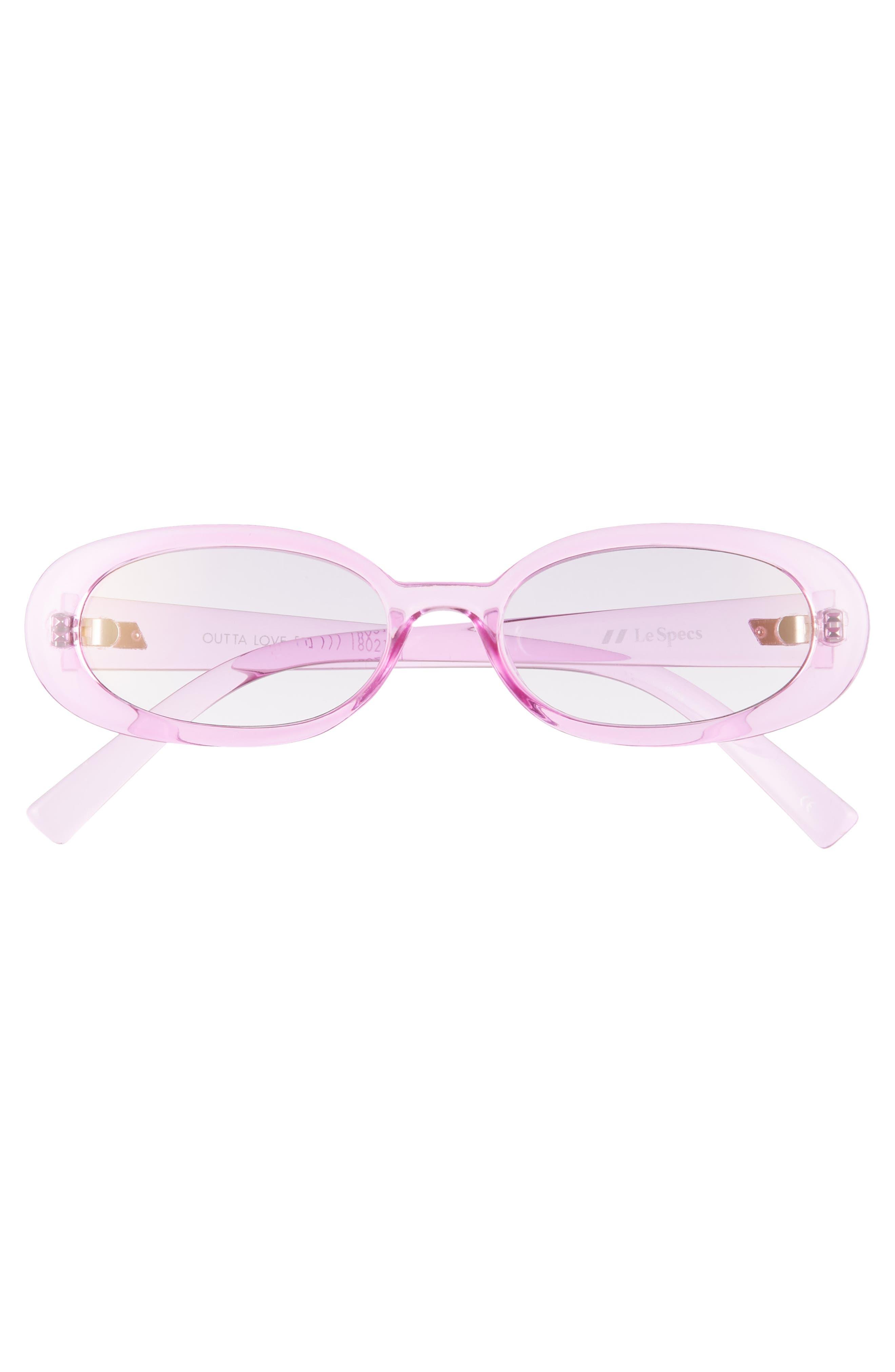 Outta Love 49mm Cat Eye Sunglasses,                             Alternate thumbnail 3, color,                             Powder-Puff