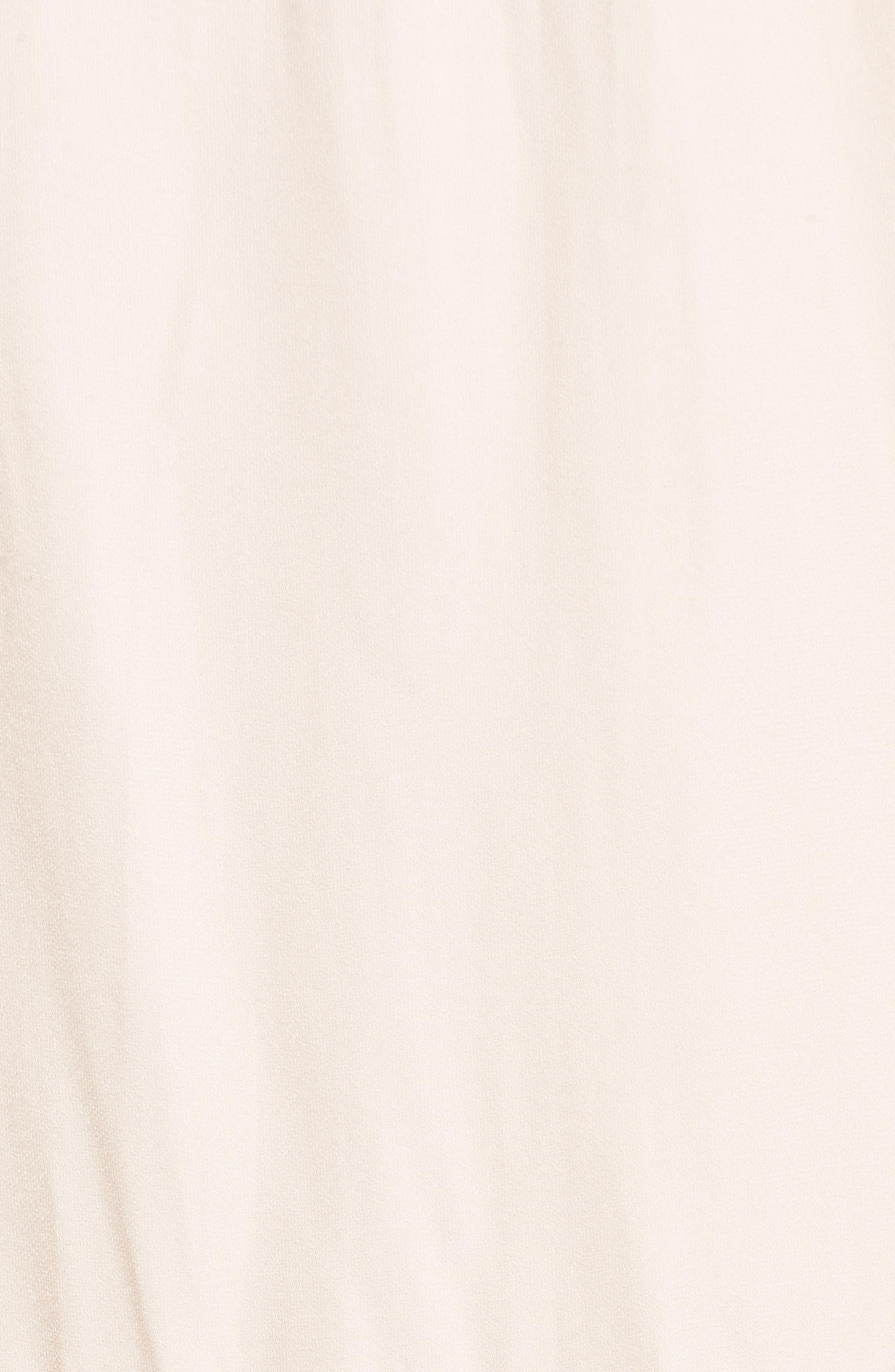 Lace Trim Dress,                             Alternate thumbnail 5, color,                             Pink Scallop
