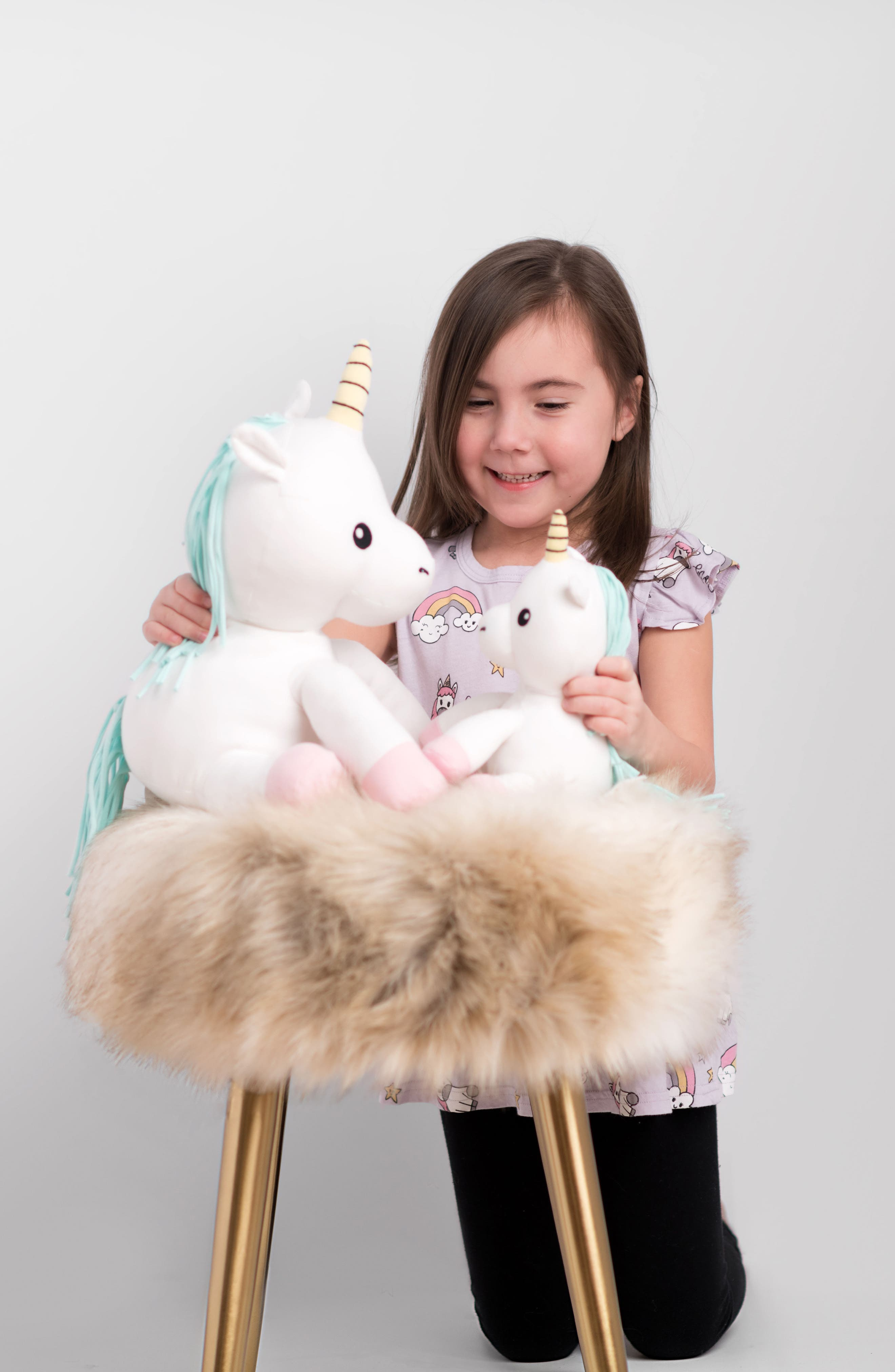 Small Cupcake Unicorn Stuffed Animal,                             Alternate thumbnail 7, color,                             White